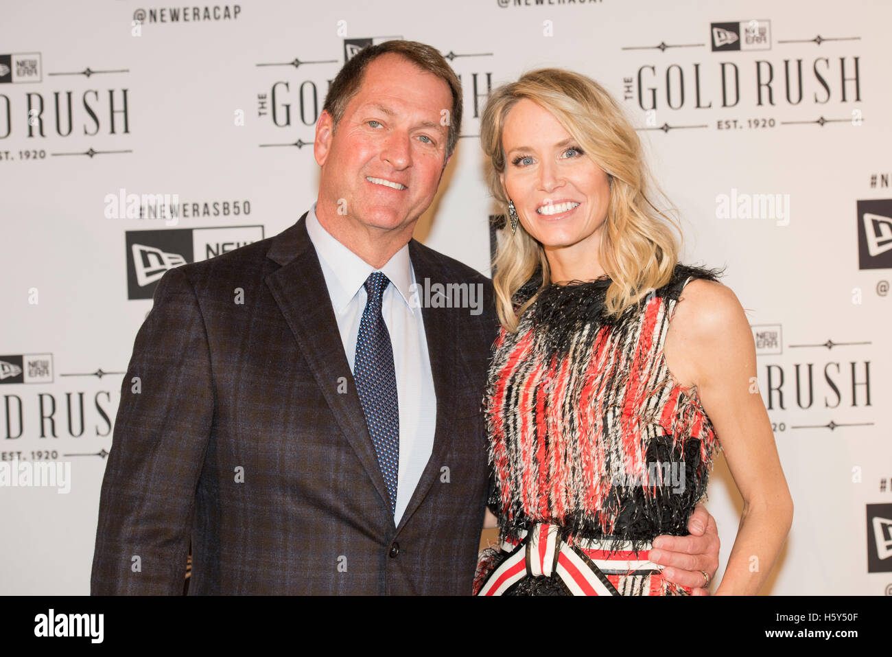 New Era Cap CEO Chris Kock arrives on the red carpet with wife Lindesy Koch  at 12a89114b9a