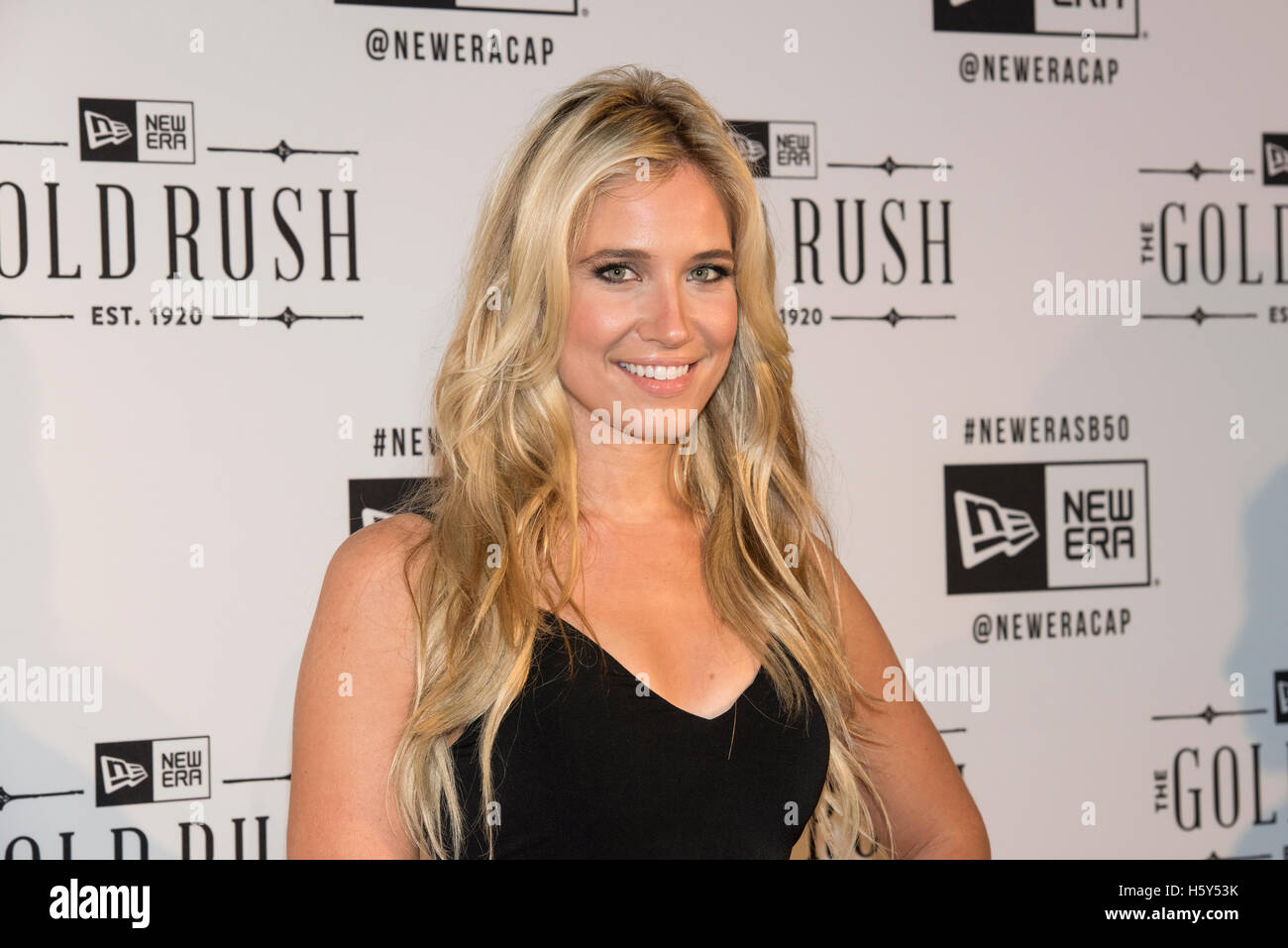 Kristine Leahy arrives on the red carpet at the Gold Rush presented by New Era Caps, San Francisco, California February Stock Photo