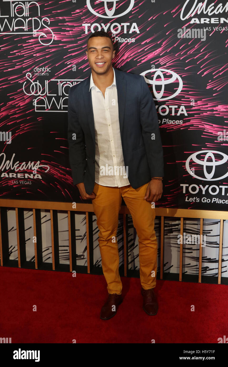 0b0cc180eb4 Miguel Nunez attends the Red Carpet at the 2015 Soul Train Awards at the  Orleans Arena