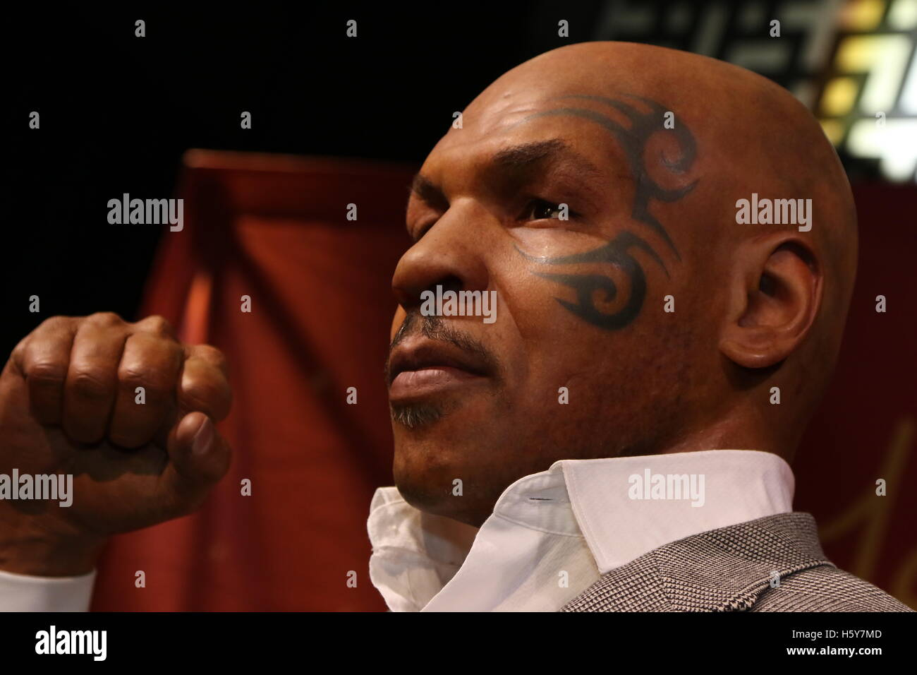 Mike Tyson waxwork unveiling at Madame Tussauds on December 1st in The Grand Canal Shoppes located in the Venetian - Stock Image