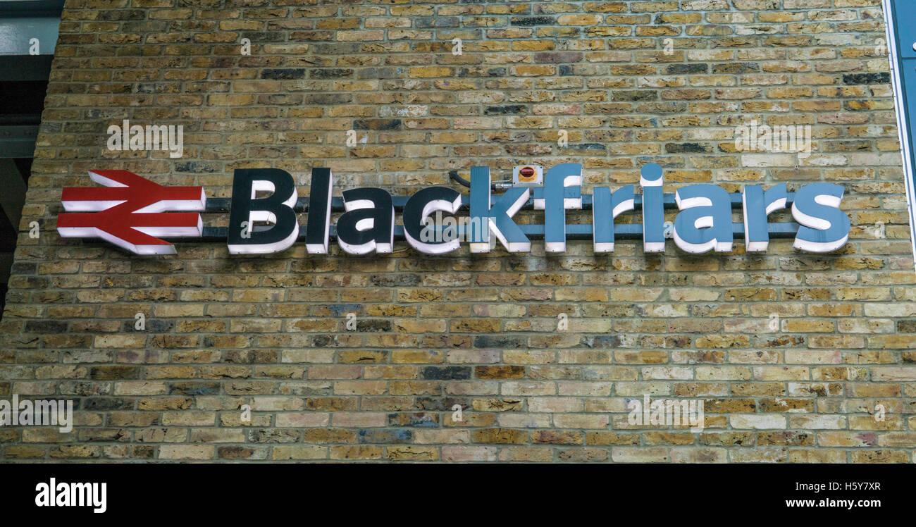 Blackfriars station LONDON, ENGLAND - FEBRUARY 22, 2016 Stock Photo