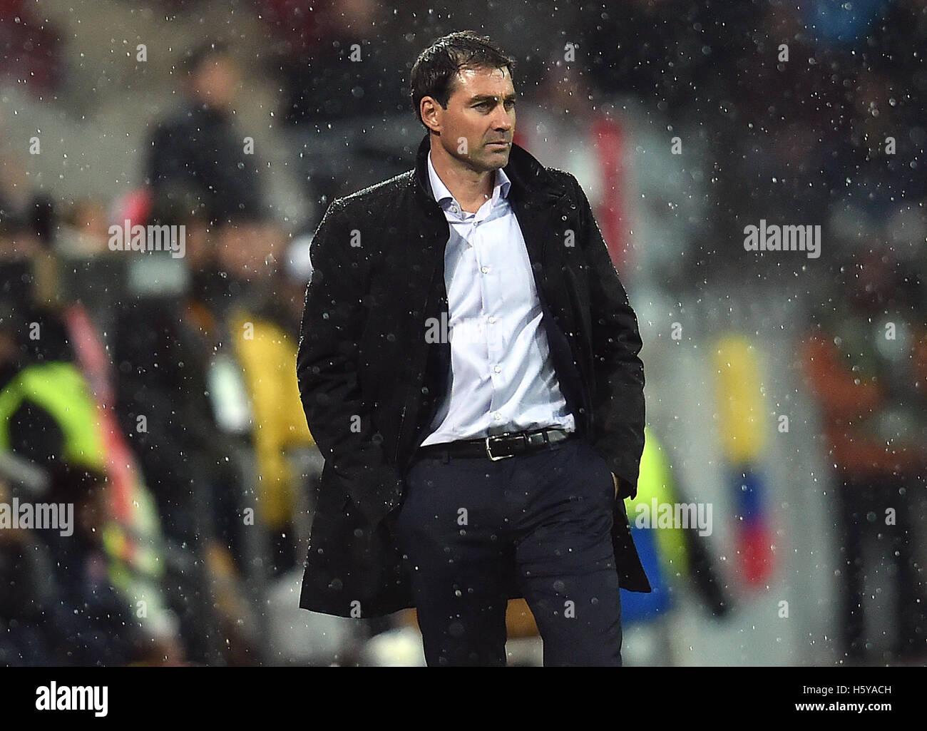 Anderlecht's coach Rene Weiler following the Europa League group phase match between FSV Mainz 05 and RSC Anderlecht - Stock Image