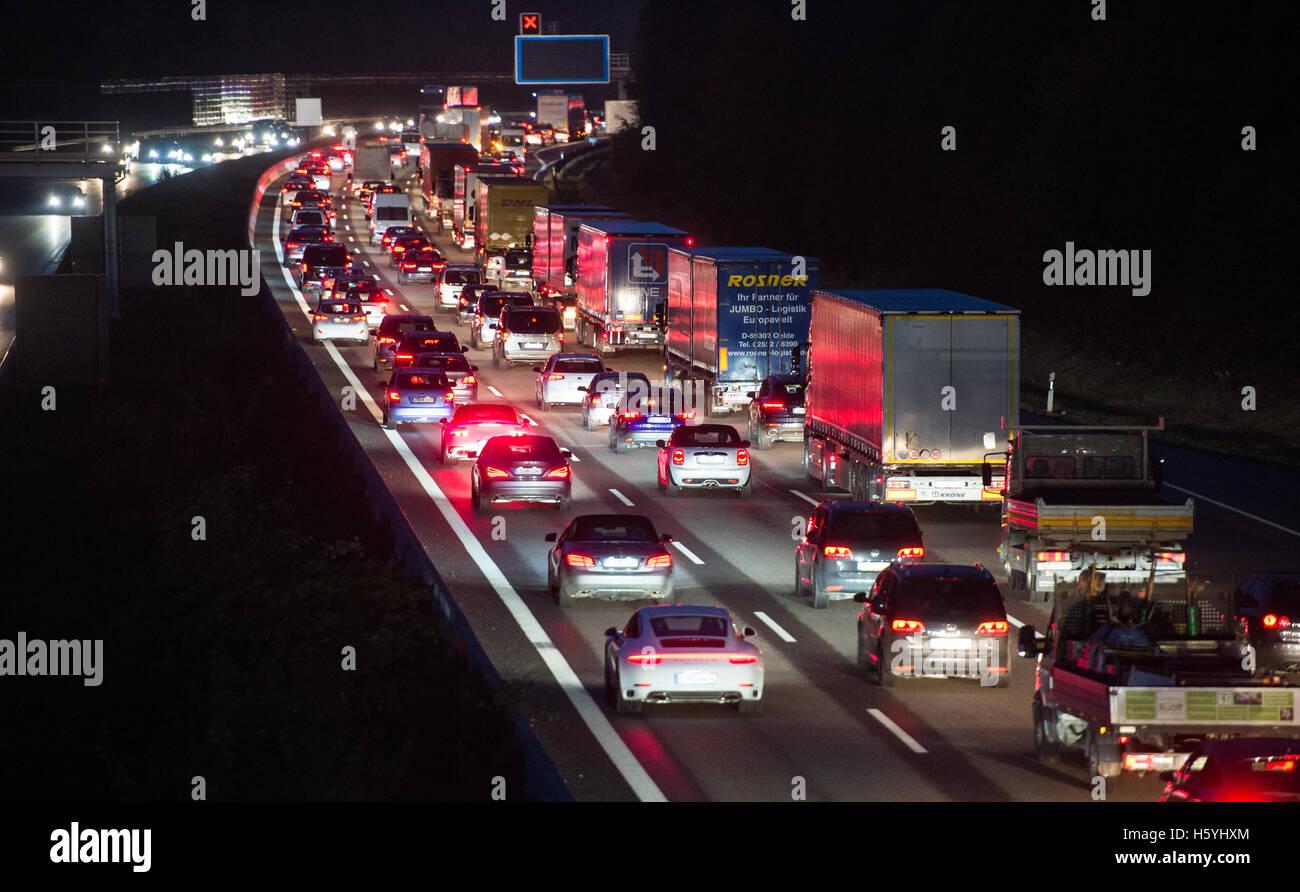 Stuttgart, Germany  21st Oct, 2016  Busy morning rush-hour
