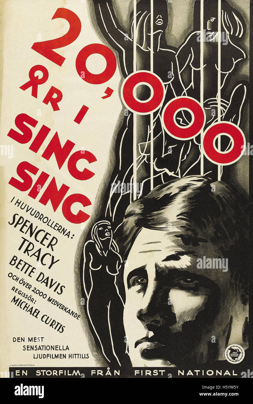 20,000 Years in Sing Sing - Movie Poster - Stock Image