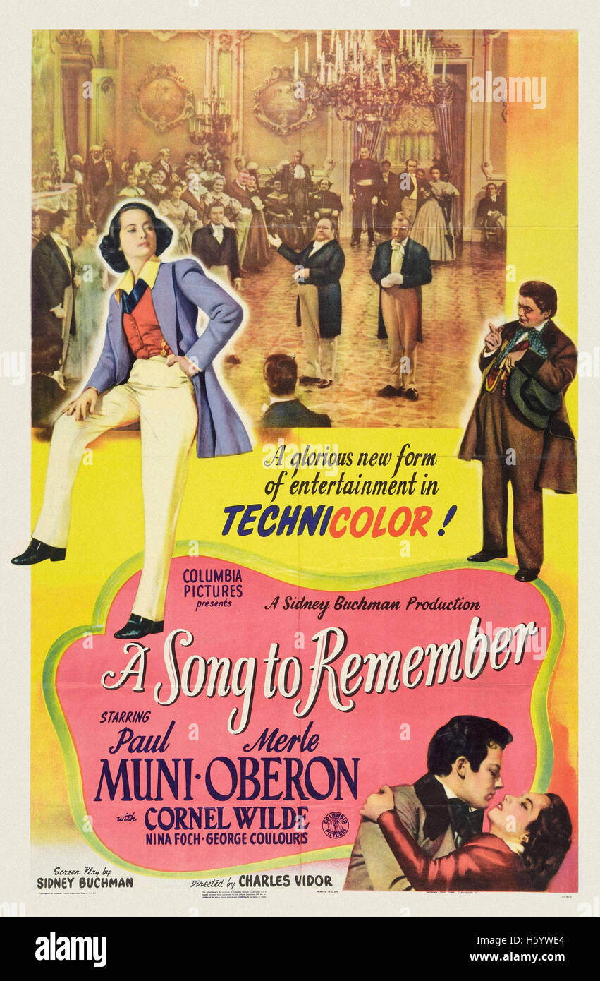 A Song to Remember - Movie Poster - Stock Image