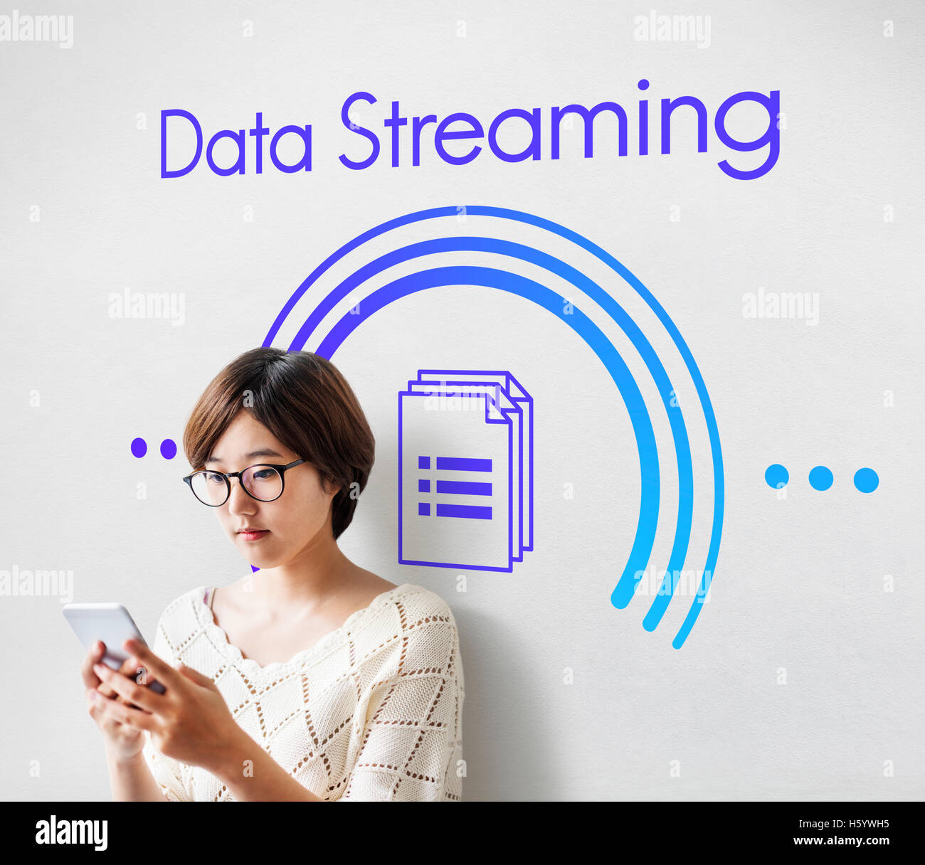 Data Streaming Connection Computer Technology Concept - Stock Image