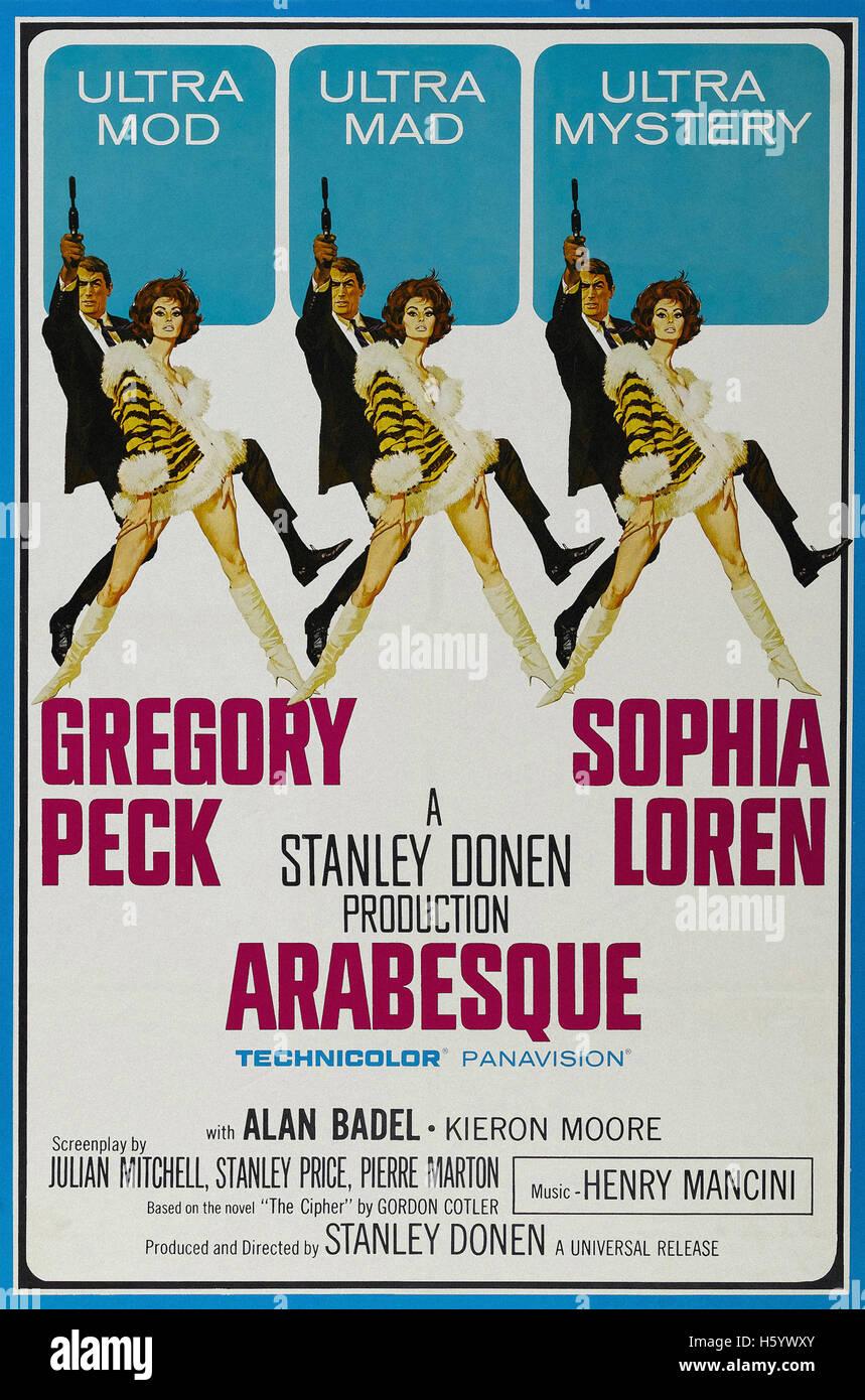 Arabesque - Movie Poster - Stock Image