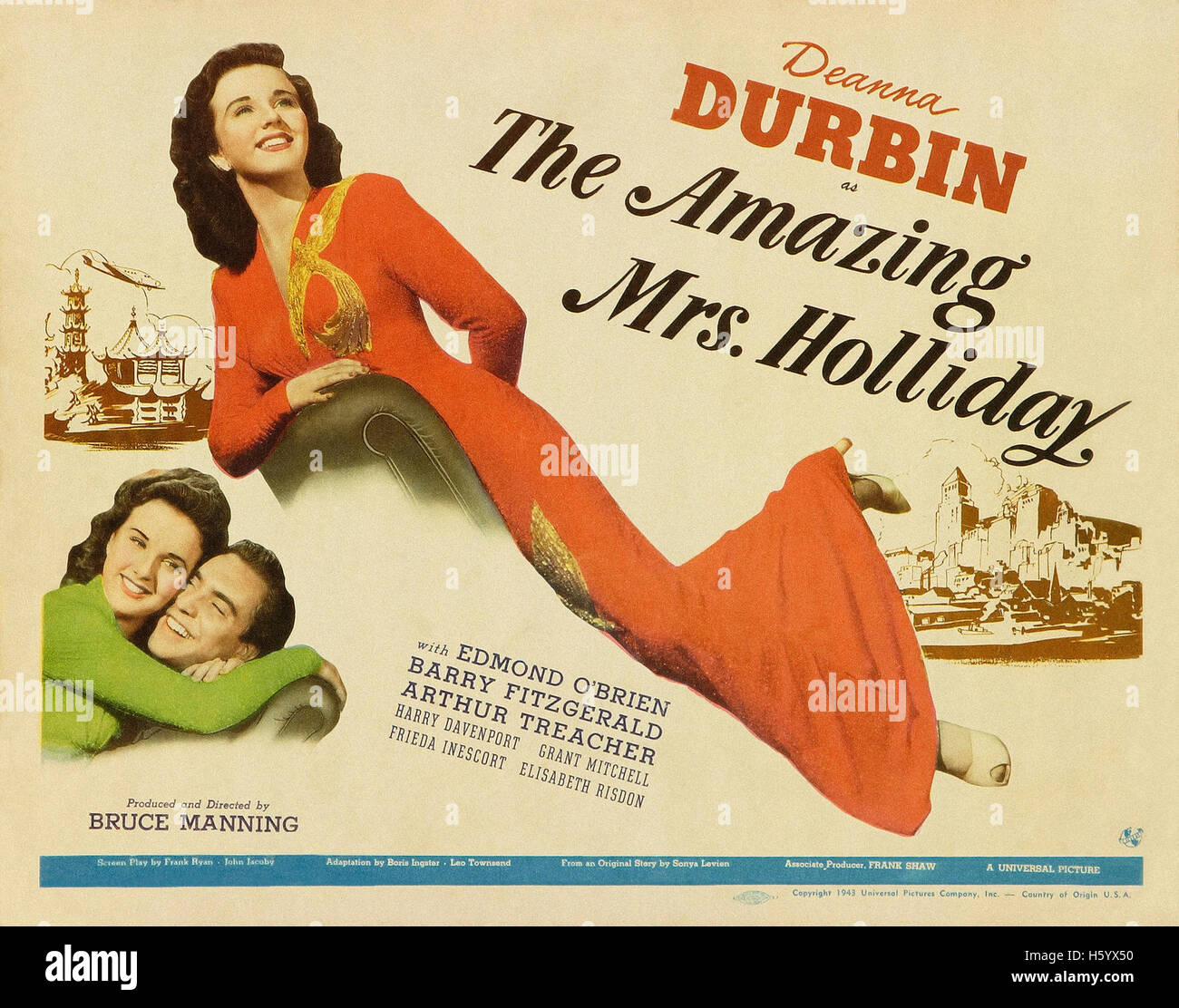 The Amazing Mrs. Holliday - Movie Poster - Stock Image