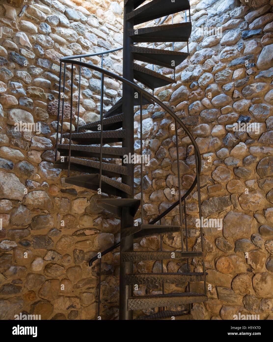 Metal Spiral Staircase   Stock Image