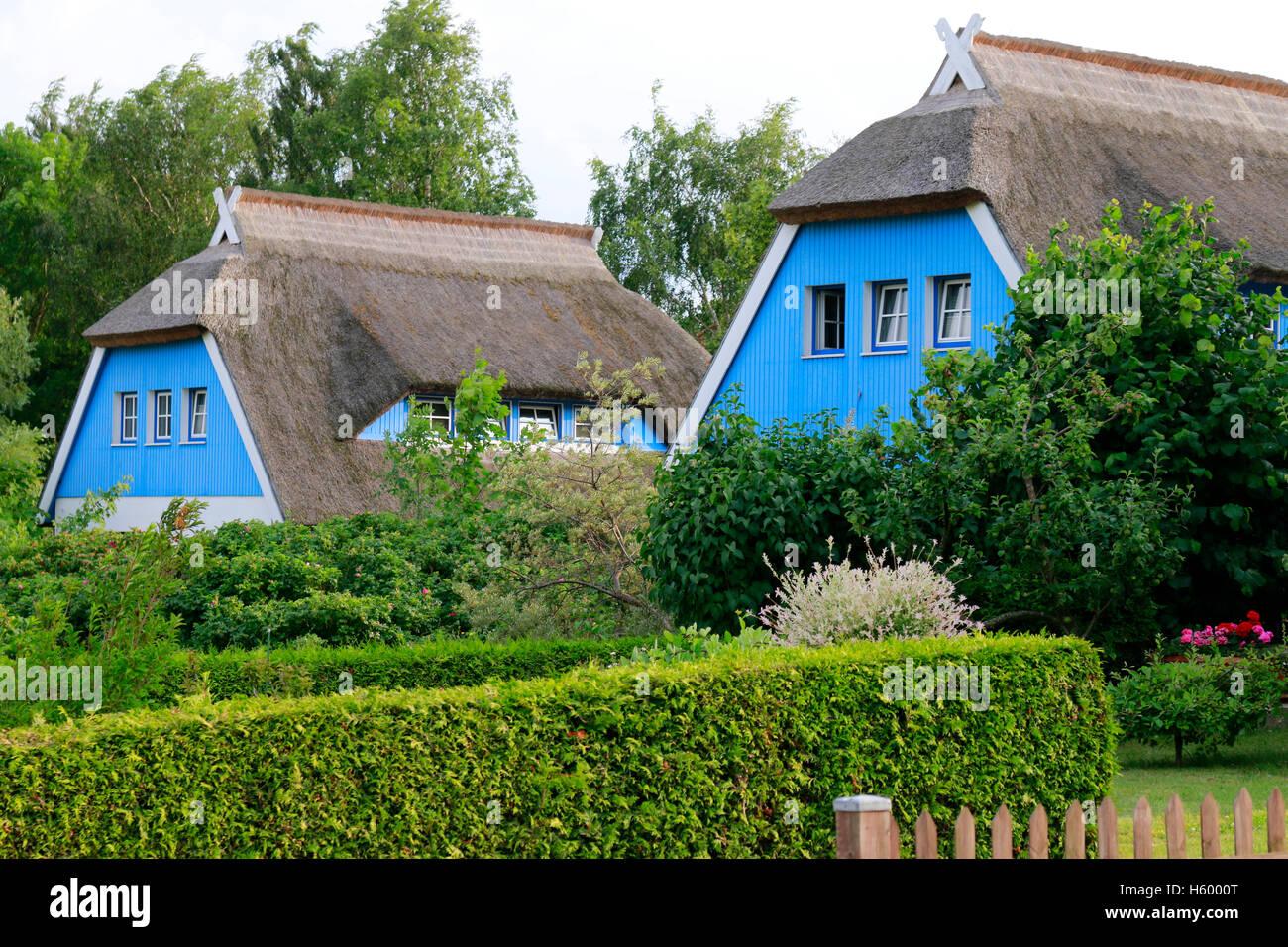 Impressionen: Die Blaue Scheune, Vitte, Hiddensee. - Stock Image