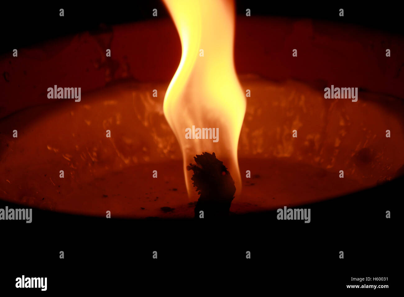light fire - Stock Image