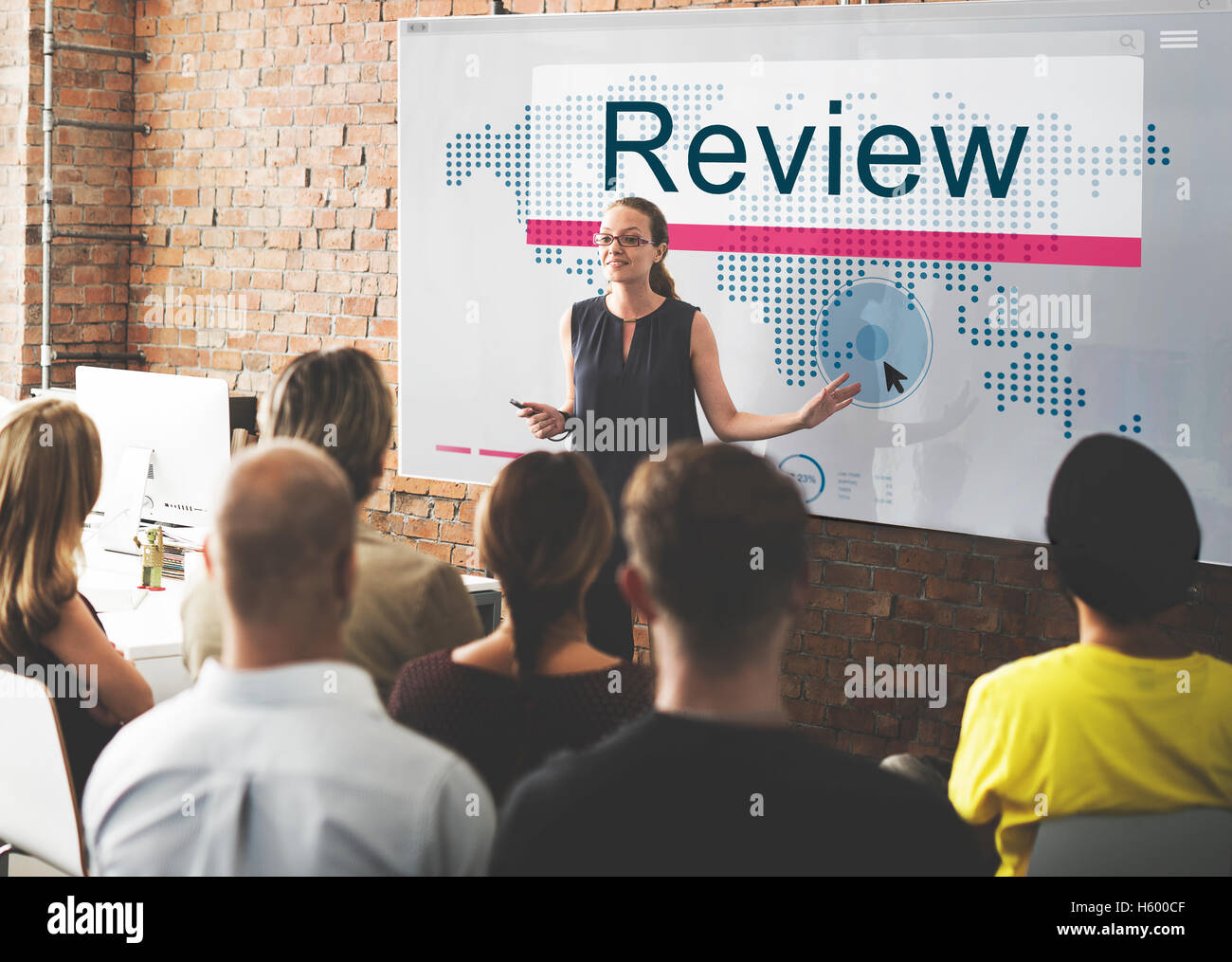 Review Audit Auditing Evalutate Report Rethink Concept - Stock Image