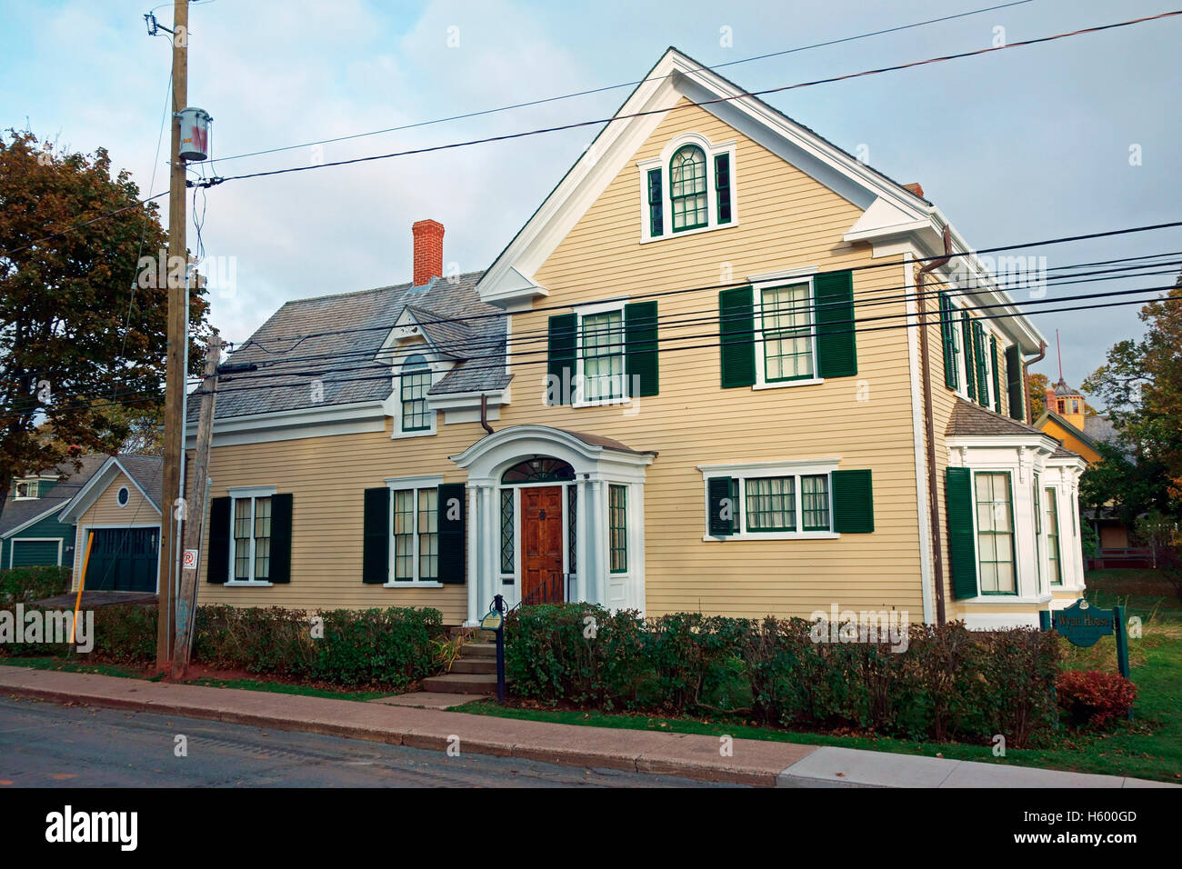 The Wyatt Historic House at 85 Spring Street is a Designated Heritage Building in Summerside, Prince Edward island, - Stock Image