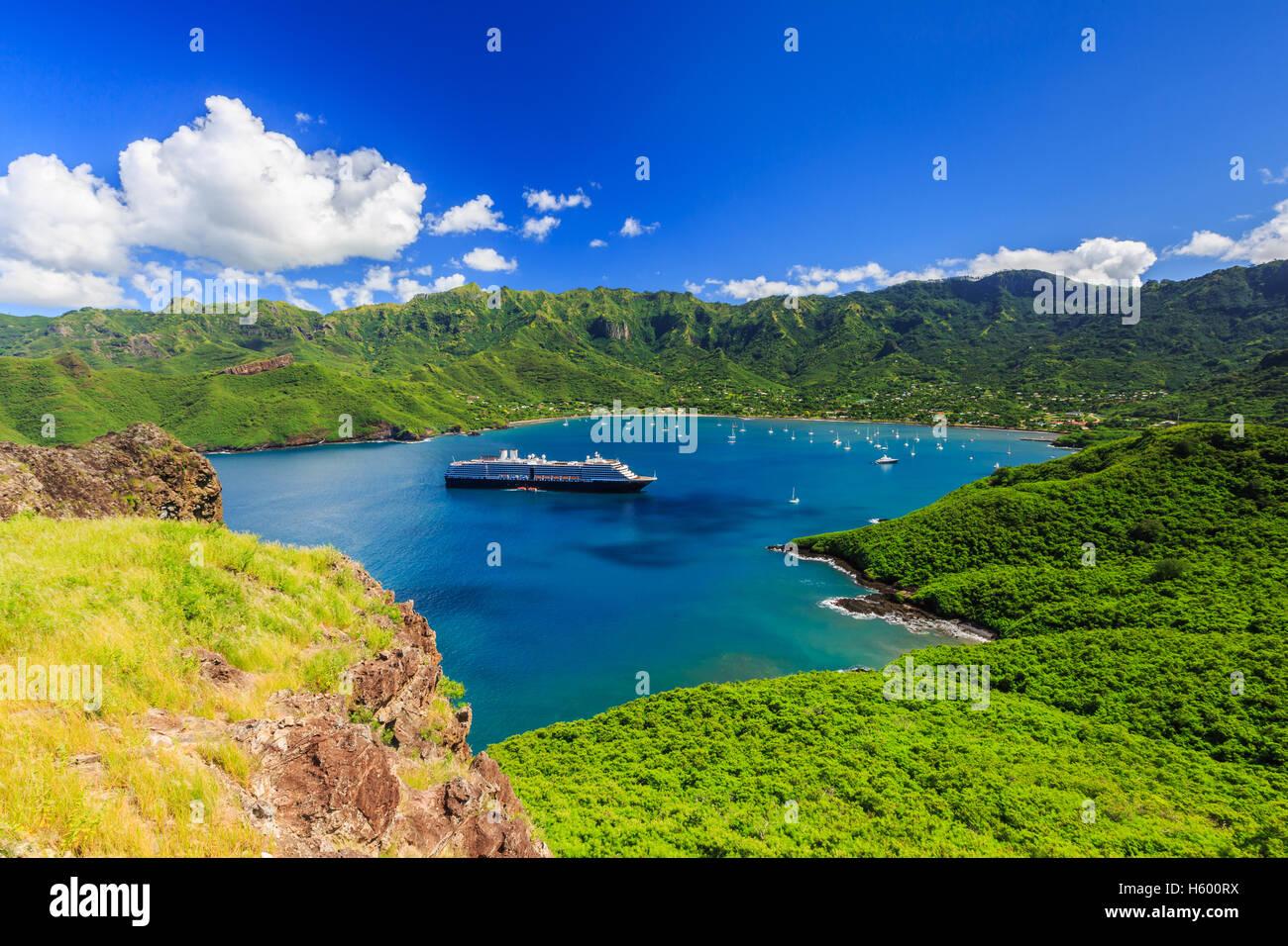 Nuku Hiva, Marquesas Islands. - Stock Image