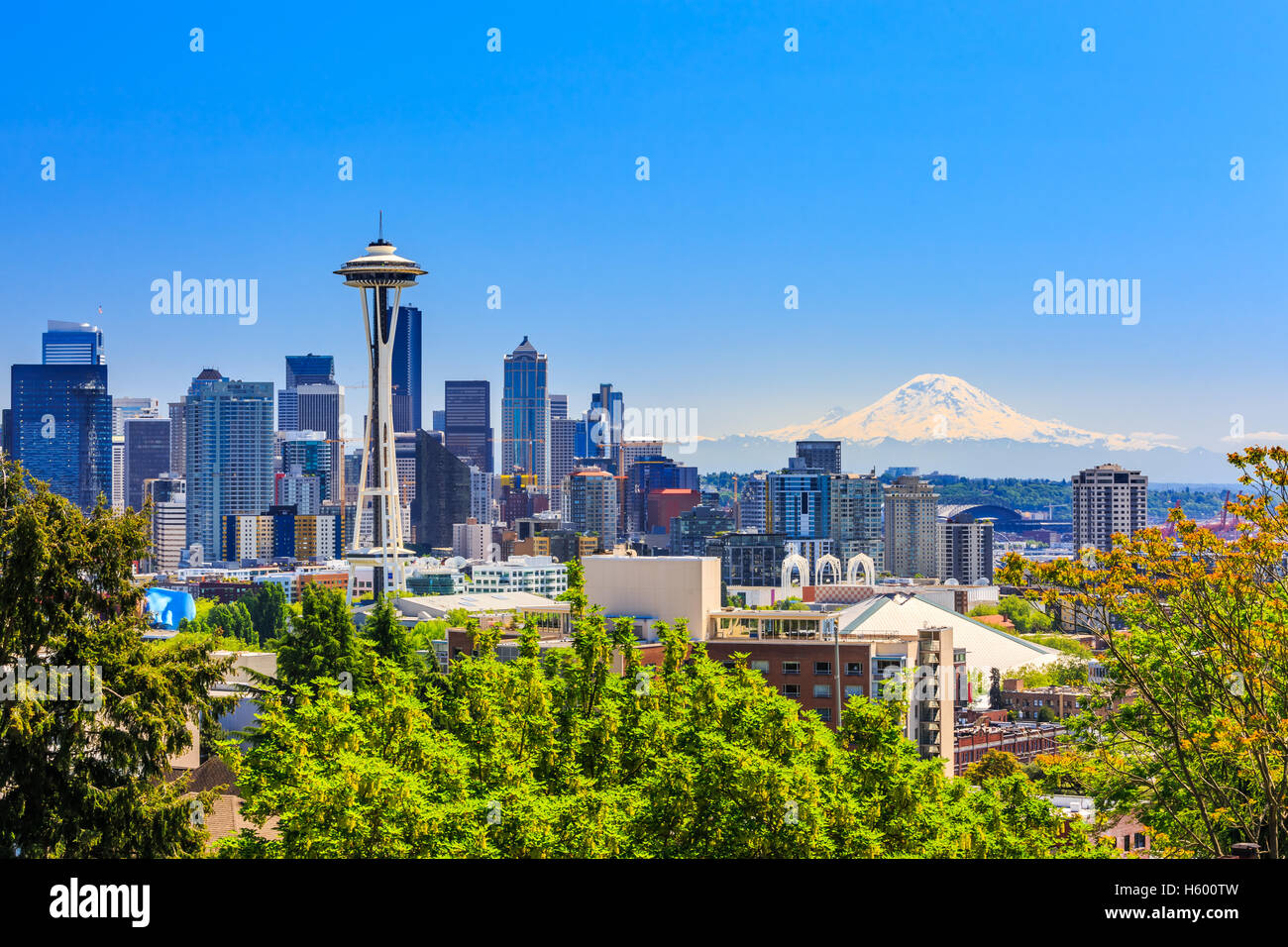 Seattle downtown. - Stock Image