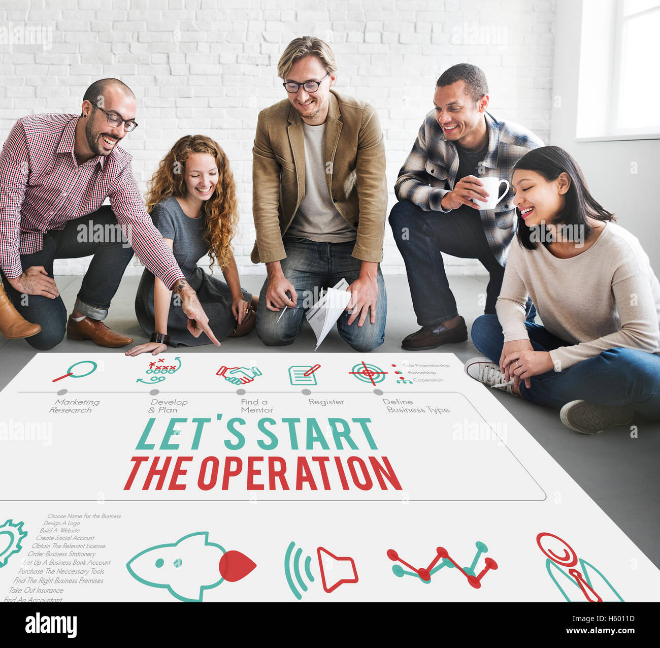 Operation Active Start Useful Practical Start Concept - Stock Image