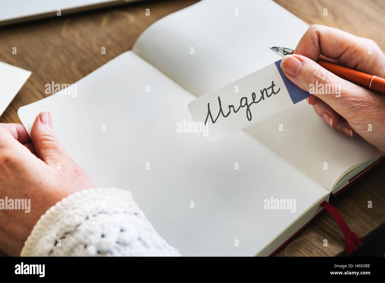 Urgent Planner Agenda Do Concept Stock Photo