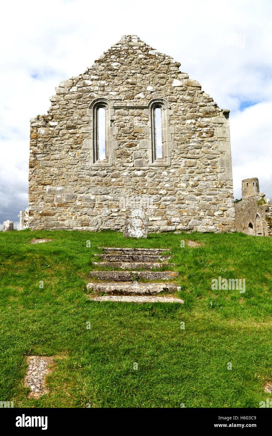 Ancient Church Wall, Ireland - Stock Image