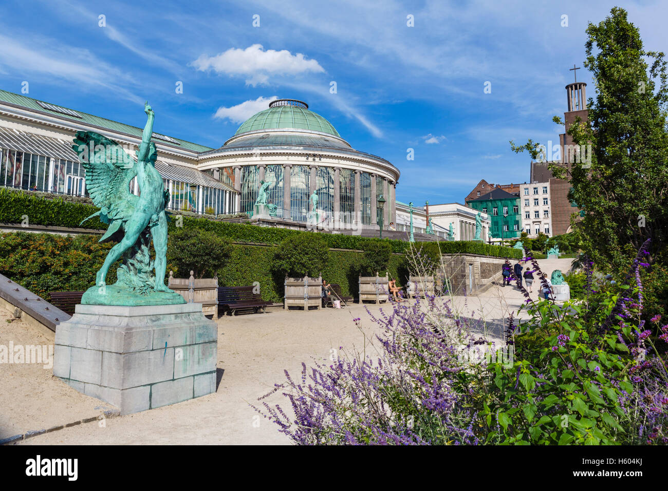 Le Botanique greenhouse, formerly housing the old Botanical Gardens, Brussels, Belgium. - Stock Image
