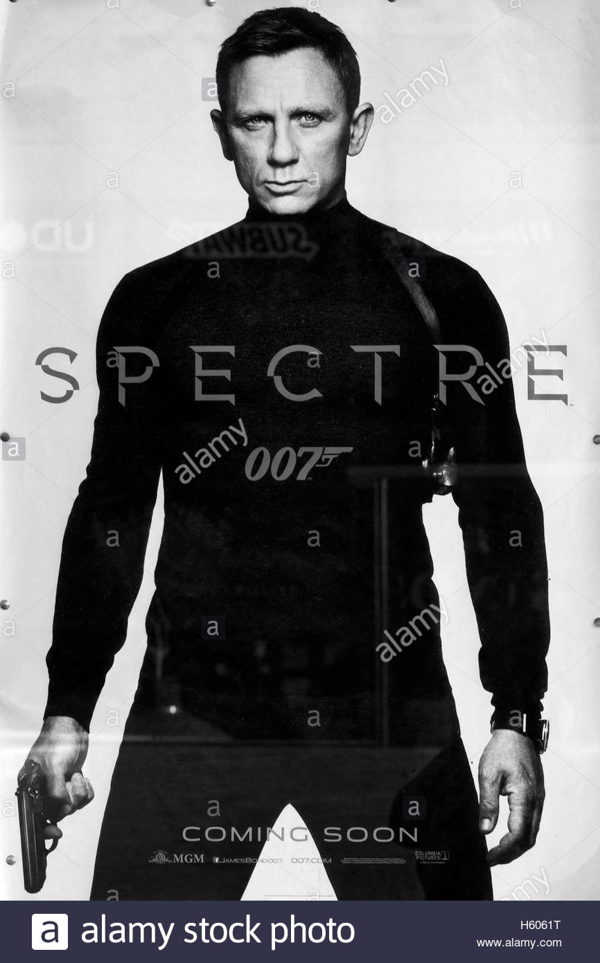 Billboard advertising the movie spectre stock image