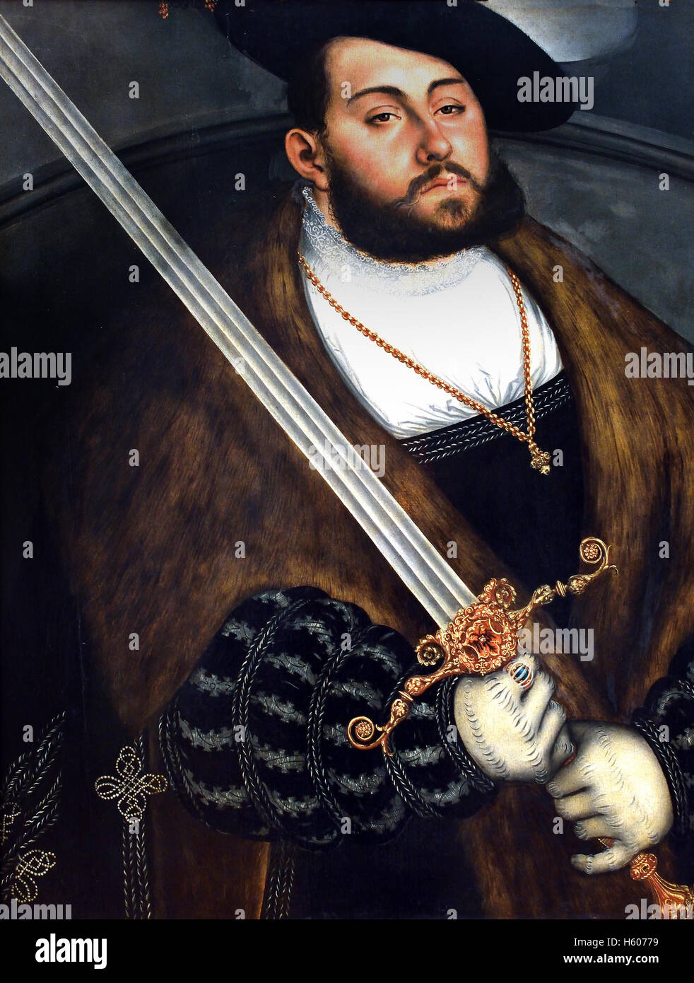 Frederick I the Wise ( John Frederick the Magnanimous ) 1503-1554  Lucas Cranach the Elder 1472 - 1553 German Germany - Stock Image