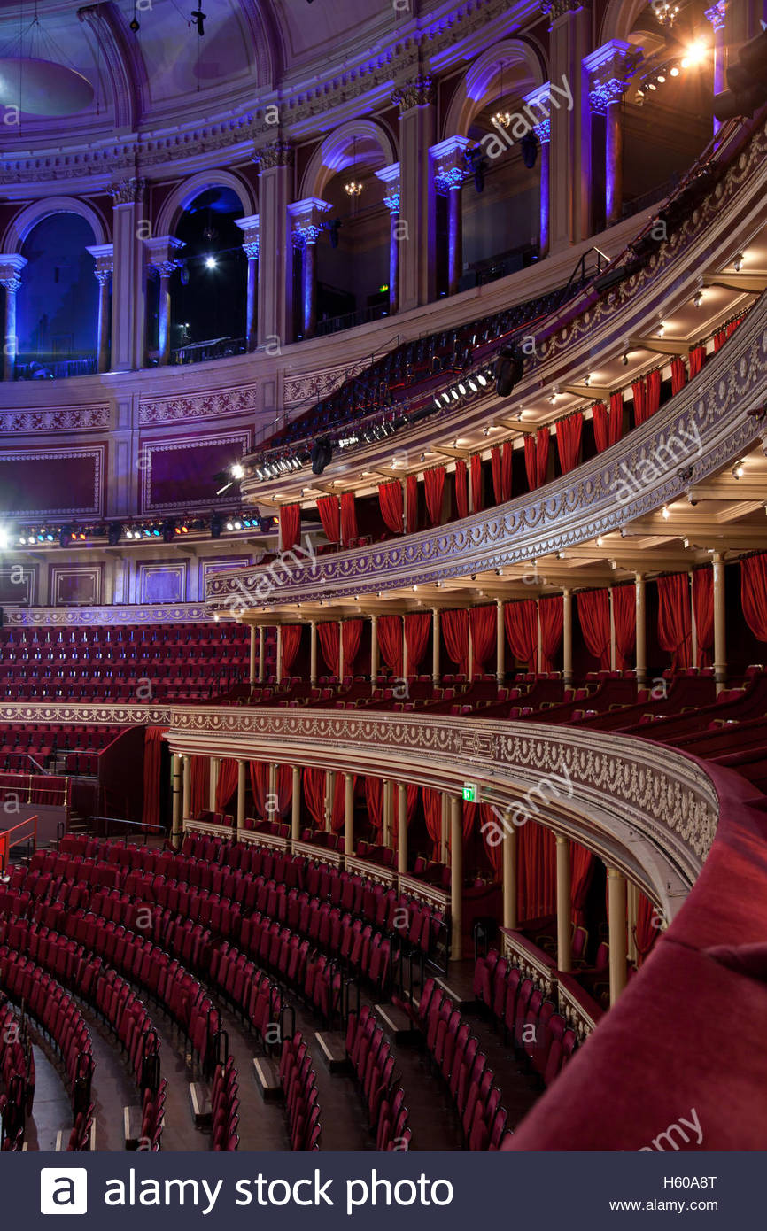 Interior of the Royal Albert Hall, London, UK - Stock Image