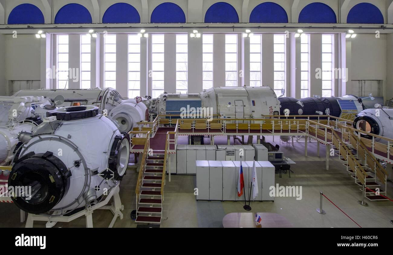 NASA International Space Station mock-up training modules at the Gagarin Cosmonaut Training Center Space Station - Stock Image