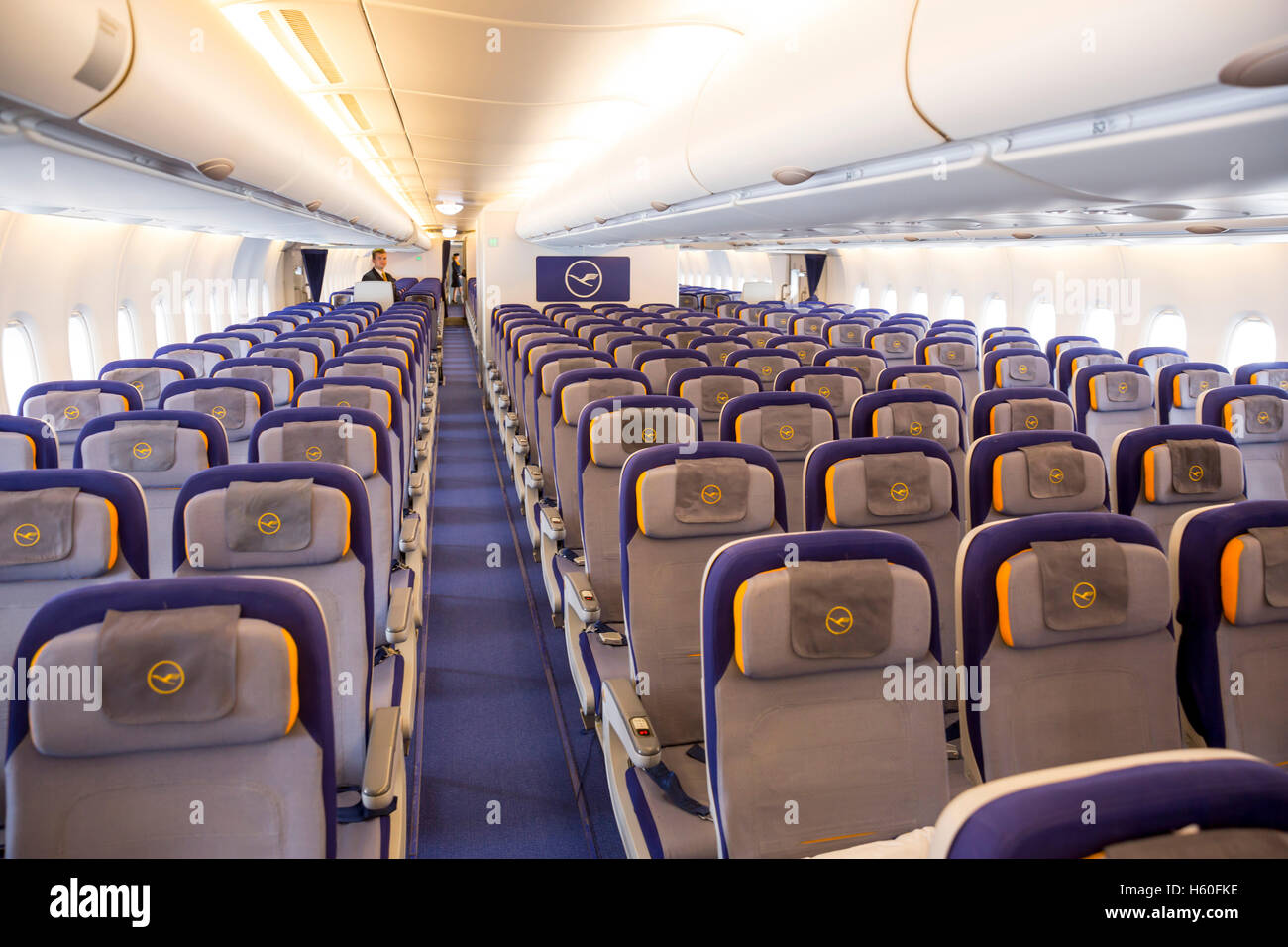 inside lufthansa airbus a380 800 sofia bulgaria october 16 2016 the inside of 755