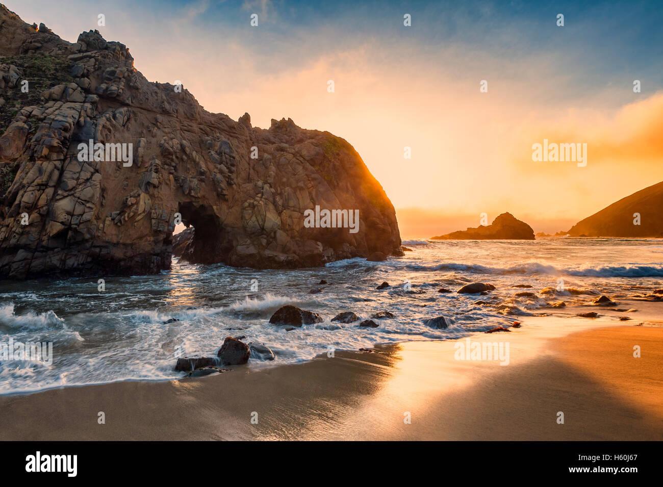 Pfeiffer Beach California - Stock Image