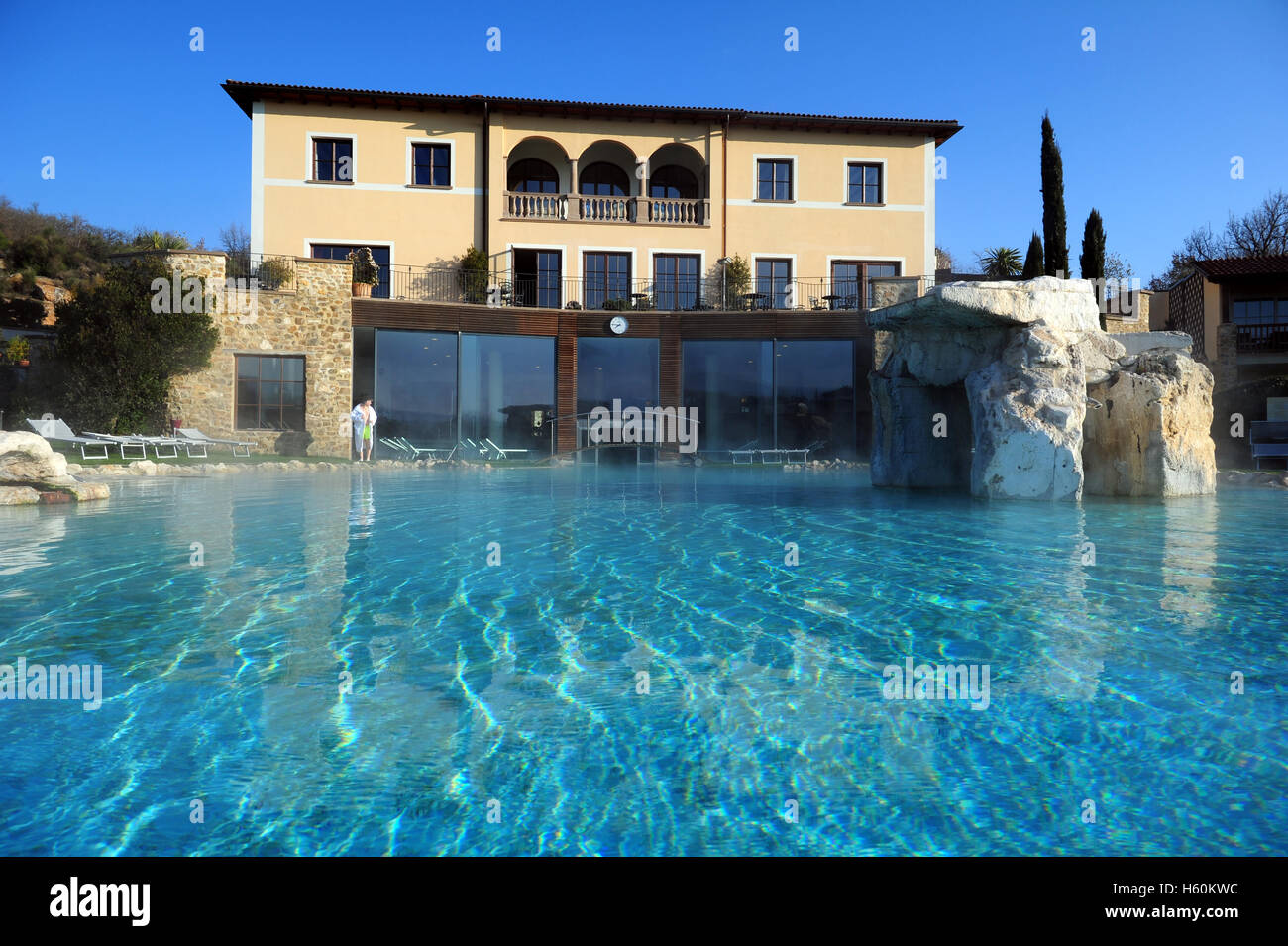 Thermae hotel stock photos thermae hotel stock images alamy - Adler bagno vignoni ...