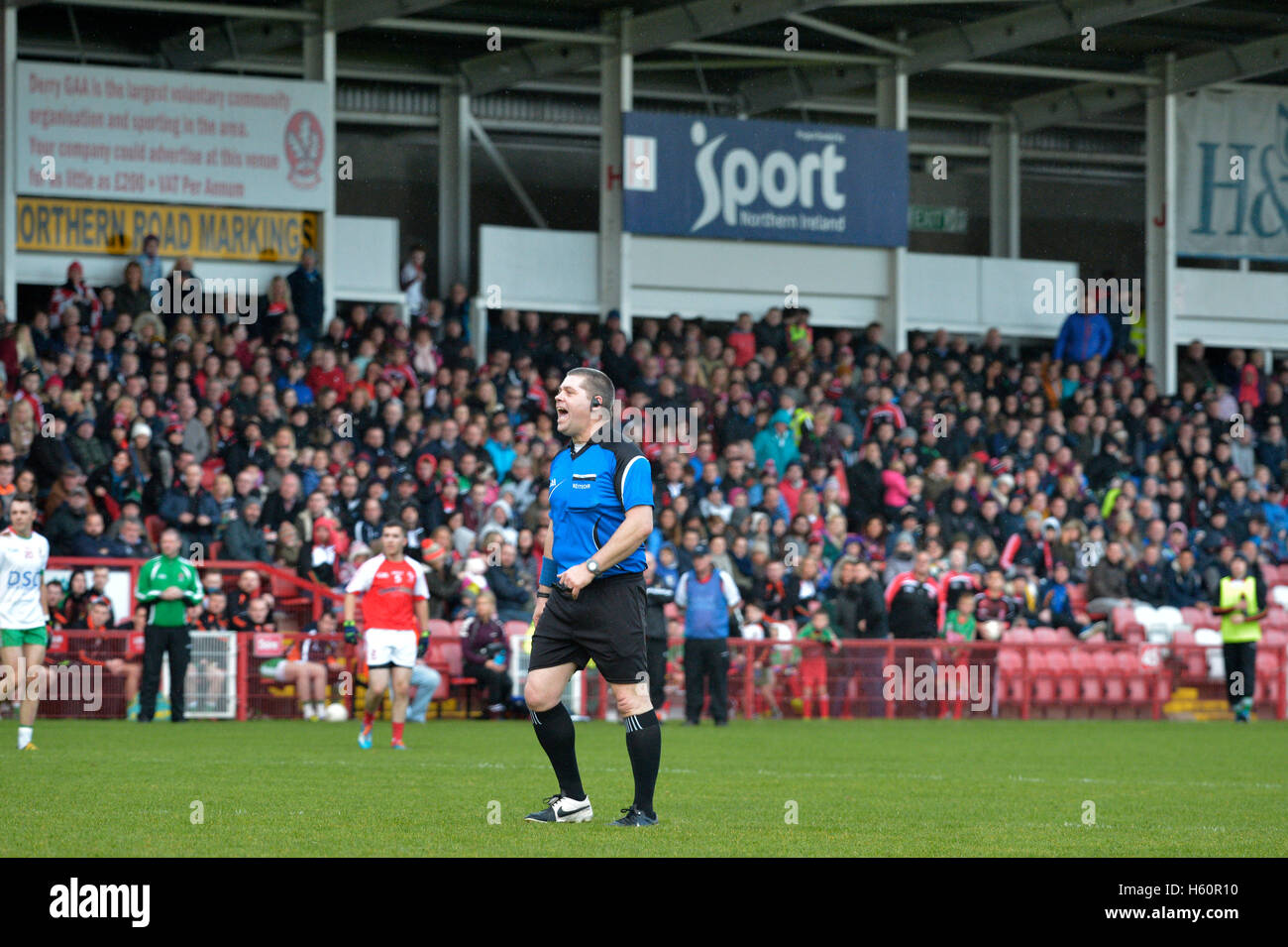 GAA Gaelic Athletic Association football reiteor referee, match official. - Stock Image