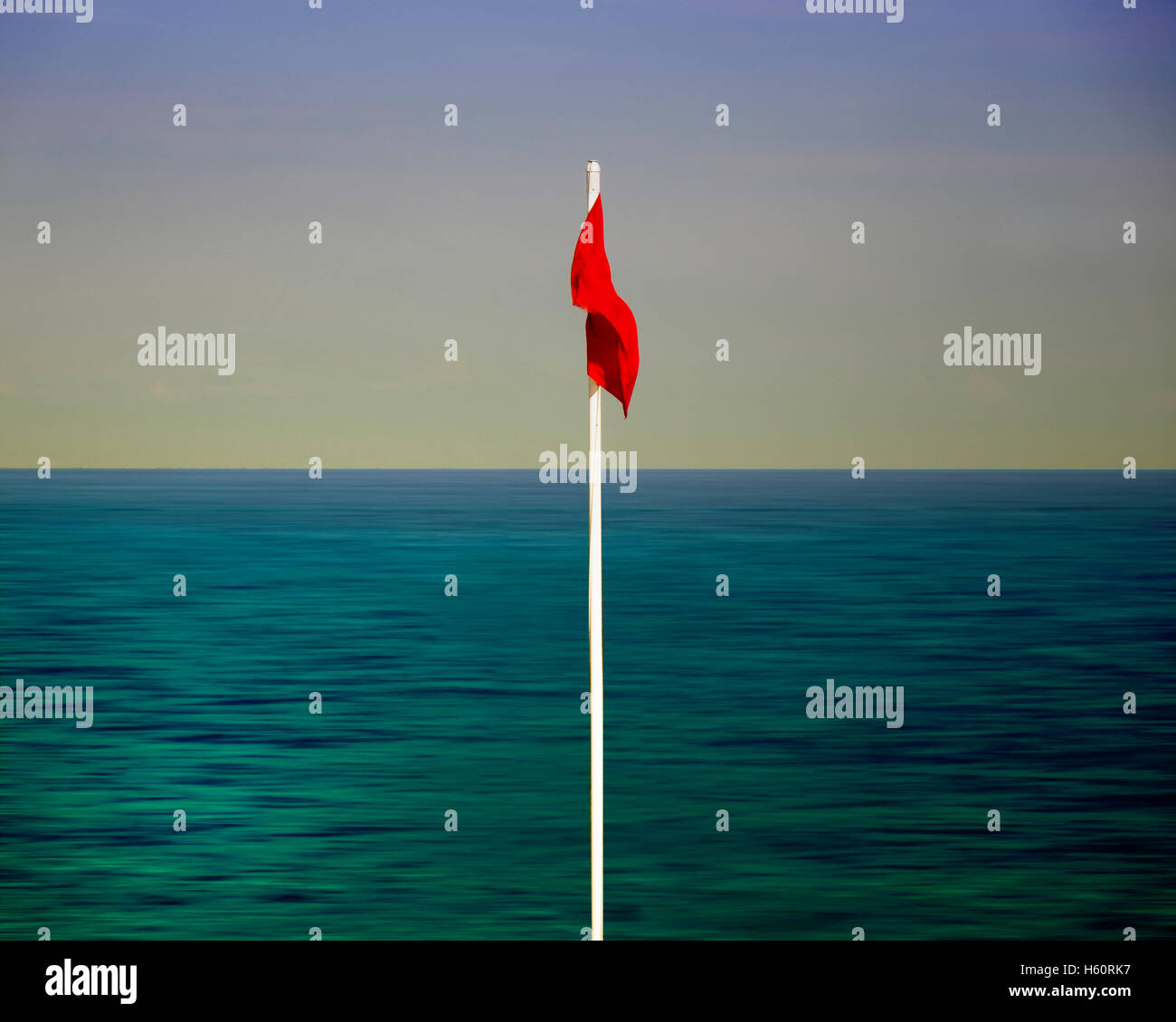 FINE ART: The Red Flag - Stock Image