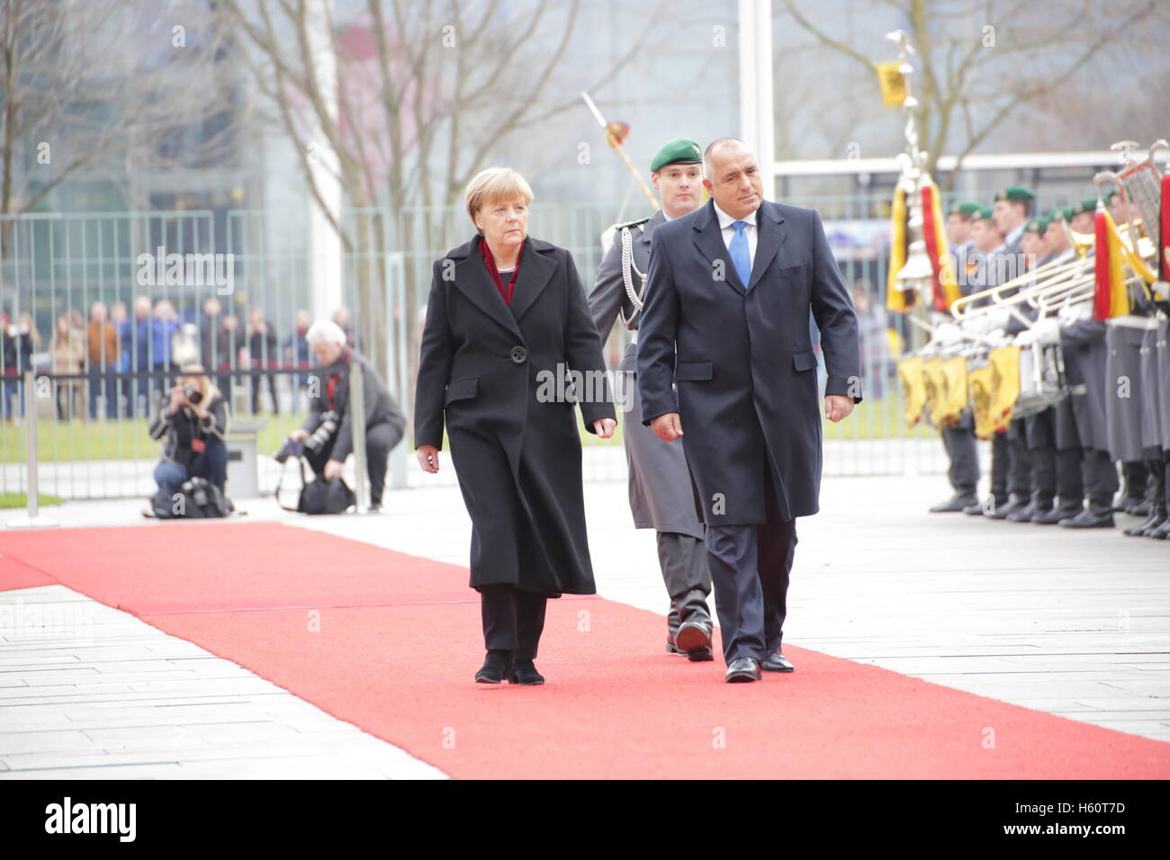 Prime Minister of Bulgaria Boyko Borisov for official visit to Chancellor Mekel, December, 15th 2014 in Berlin, - Stock Image