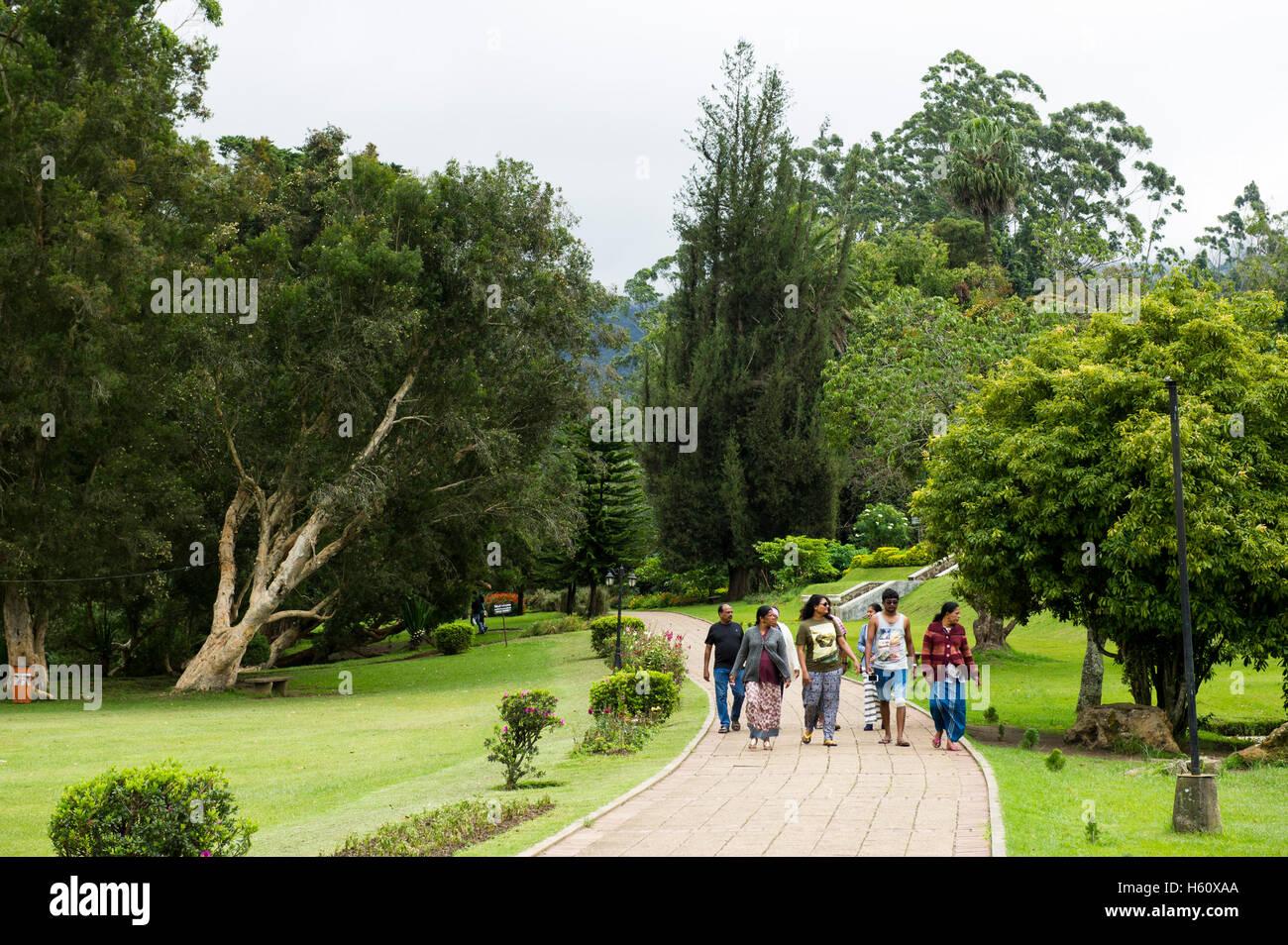People Walking In Victoria Park Nuwara Eliya Sri Lanka