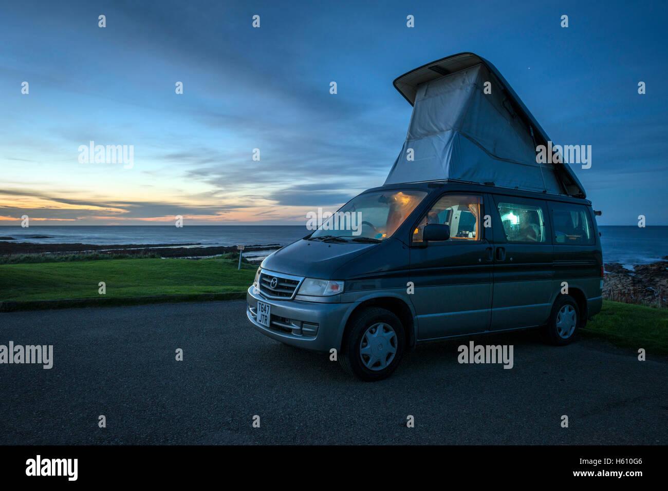 mazda bongo camper van with pop up roof camping next to. Black Bedroom Furniture Sets. Home Design Ideas