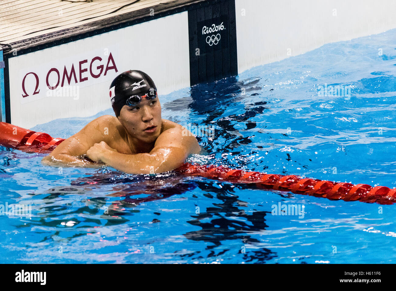 Rio de Janeiro, Brazil. 6 August 2016.Yasuhiro Koseki (JPN) competing in the Men's 100m Breaststroke semifinal - Stock Image