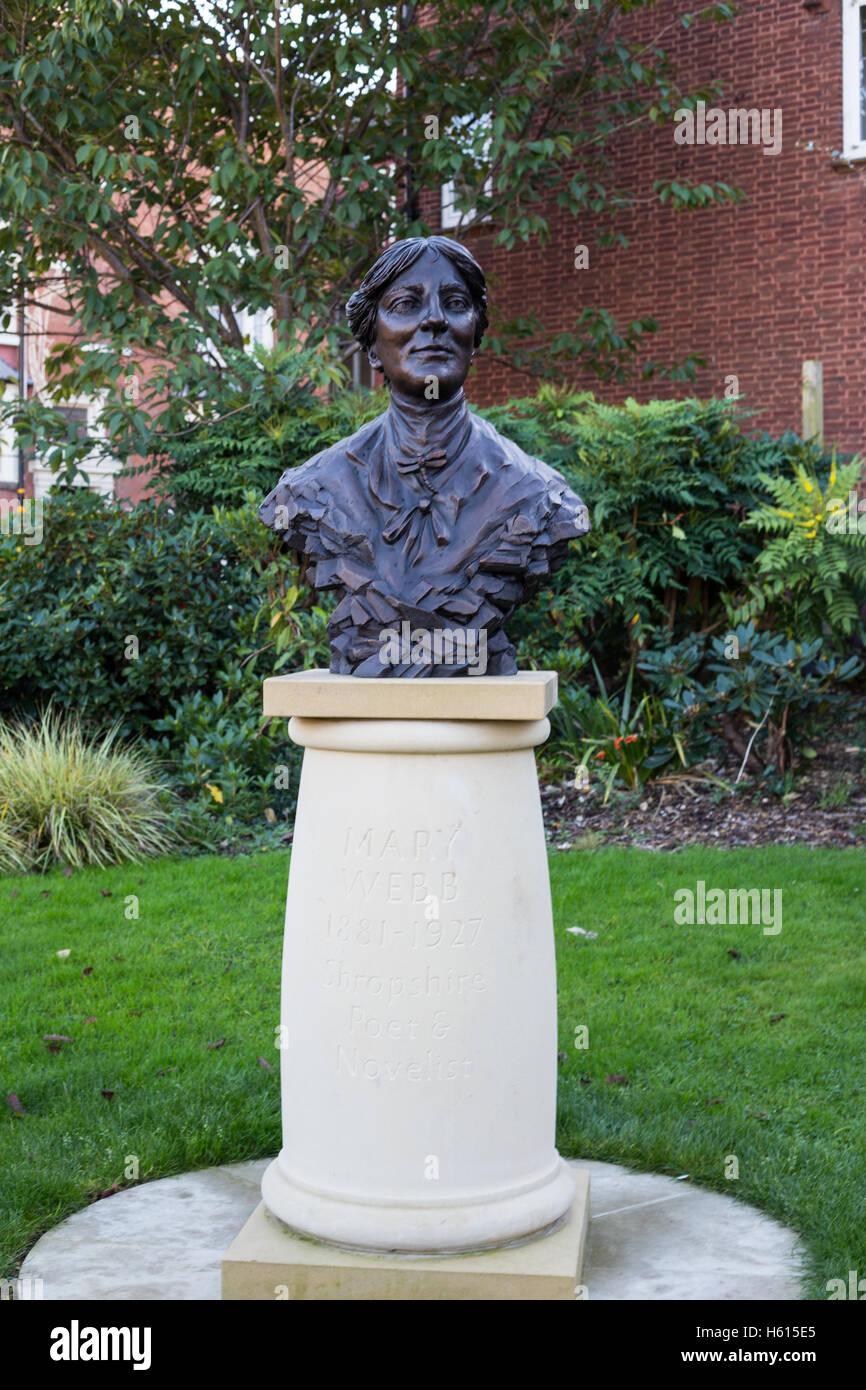 Statue of Mary Webb in Shrewsbury - Stock Image