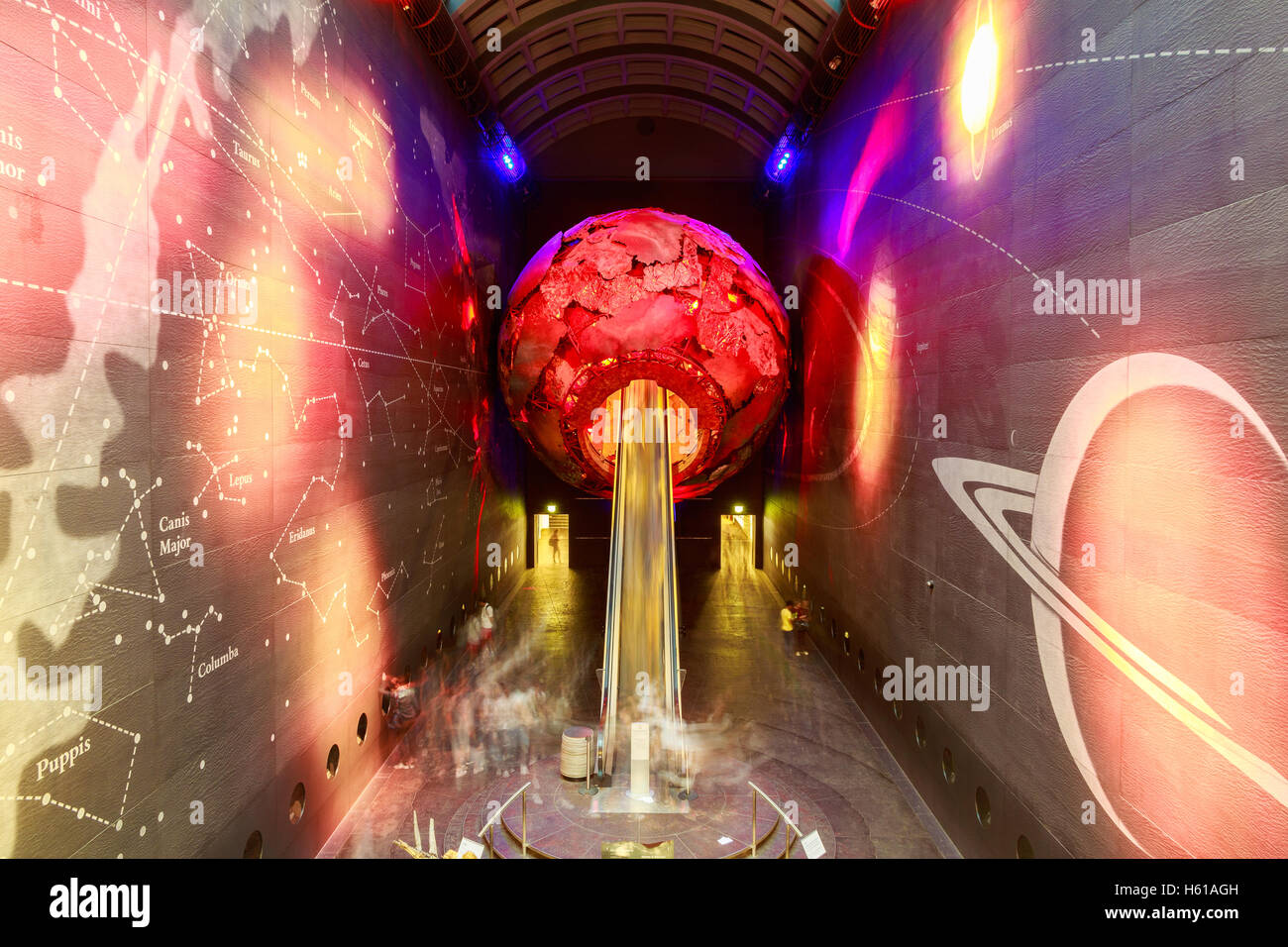 London, UK - July 28, 2016 - The entrance to the Earth Galleries in the Natural History Museum - Stock Image