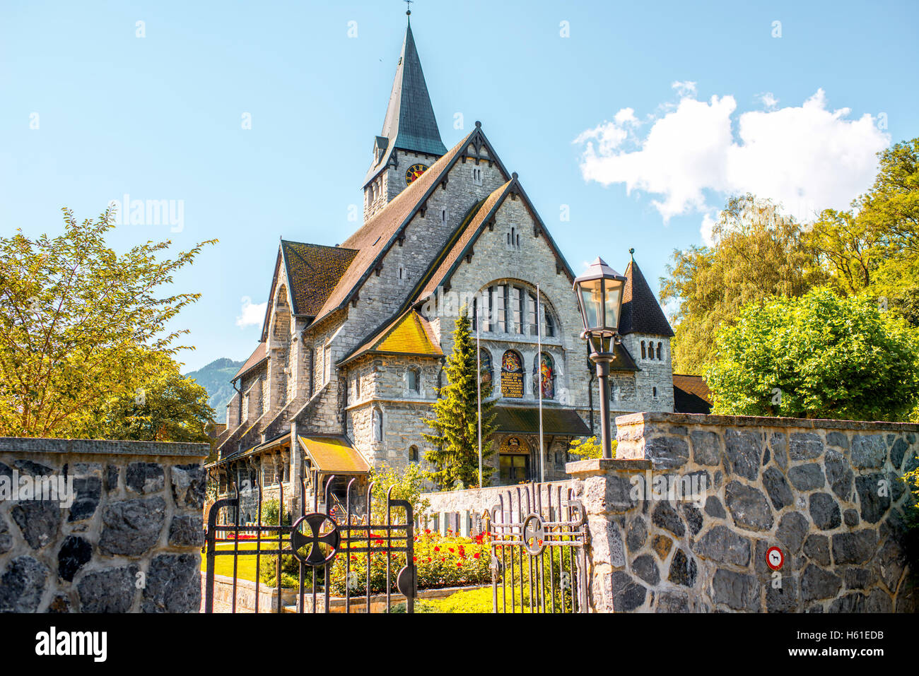 Church in Liechtenstein - Stock Image