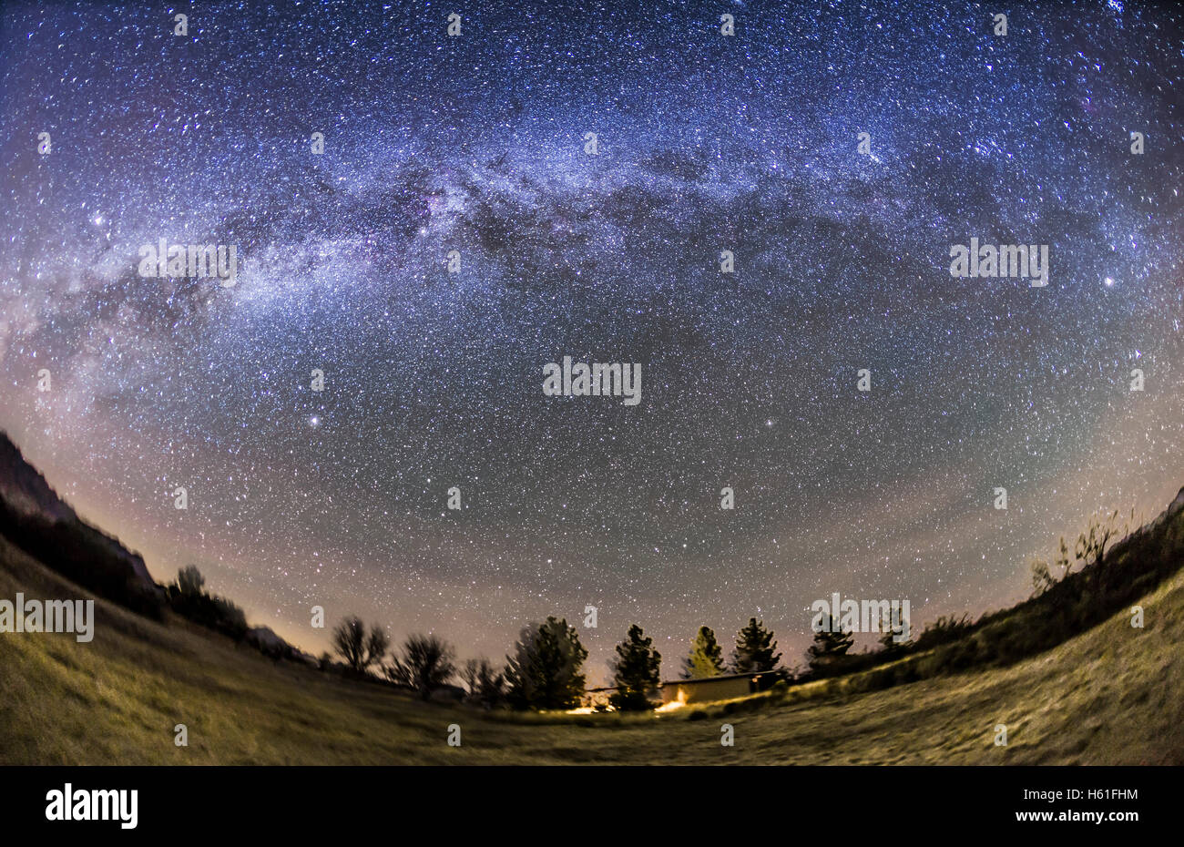 The arch of the Milky Way in the northern autumn and early winter sky, from Arizona on December 5, 2015. The Milky - Stock Image