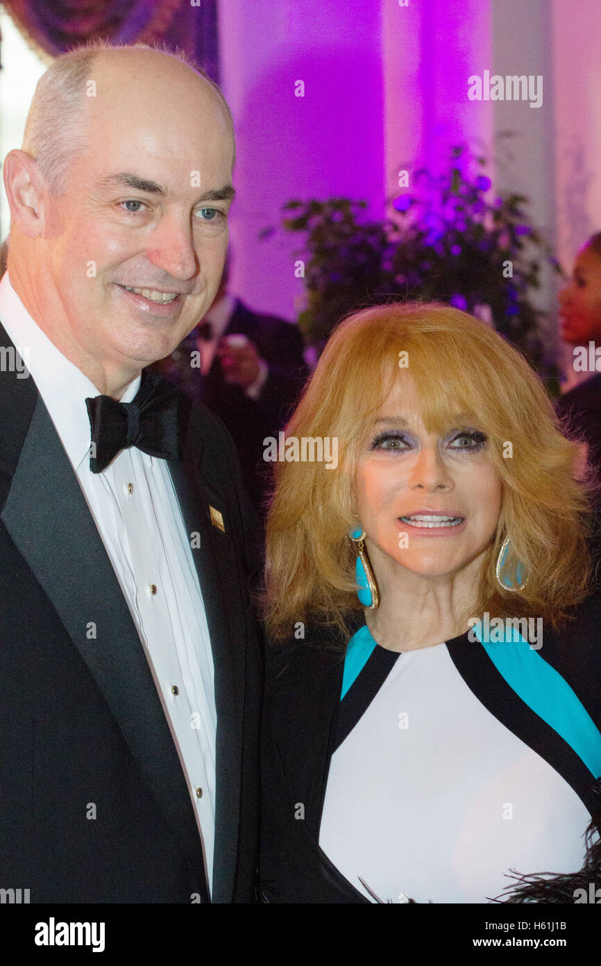 Ann-Margret and Dr. J.D. Crouch II, arrive on the red carpet for the USO Gala at the DAR Constitution Hall on October - Stock Image