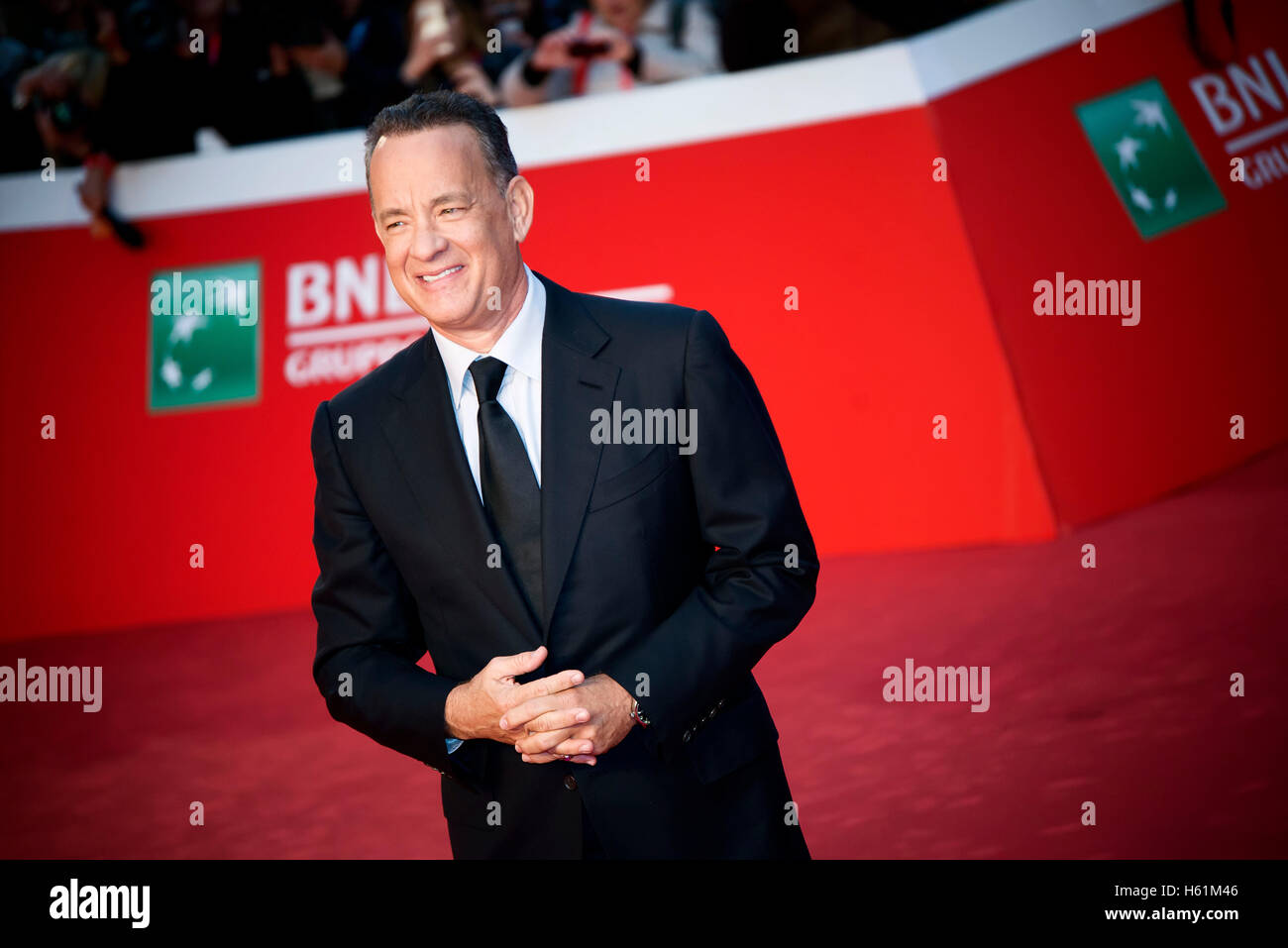 Tom Hanks attends the red carpet during the Rome Film Fest 2016 - Stock Image
