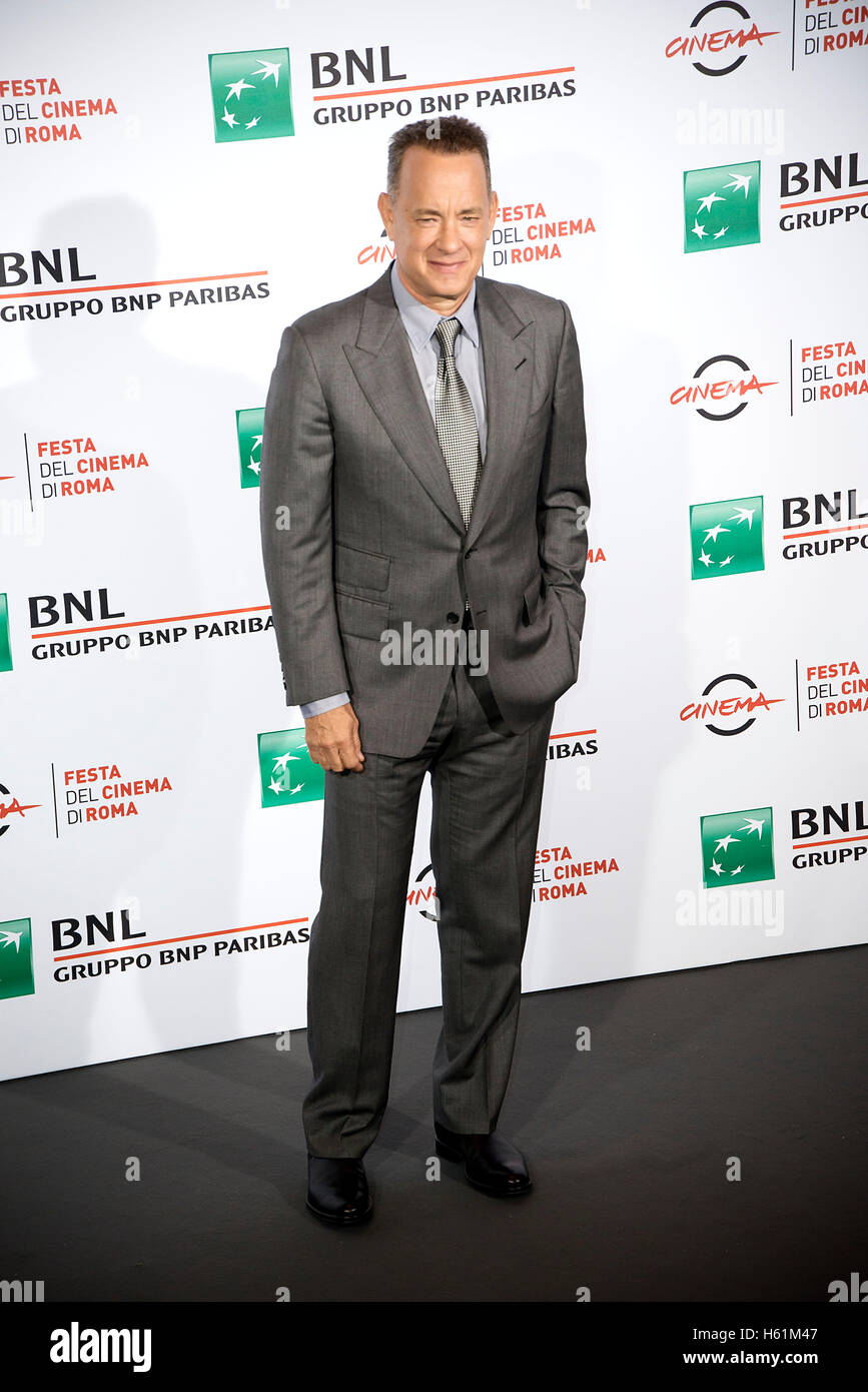Tome Hanks attends the photocall during the Rome Film Fest 2016 - Stock Image
