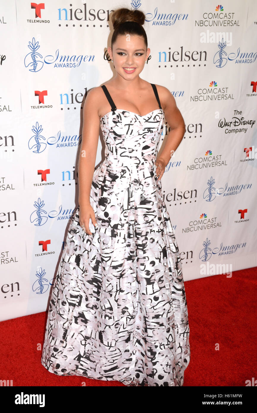 Fatima Ptacek arrives at the 30th Annual Imagen Awards on August 21, 2015 in Los Angeles, California. - Stock Image