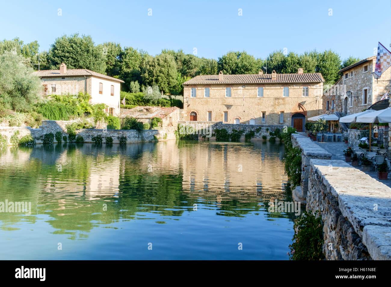Hot springs, Bagno Vignoni, Val d\'Orcia, Tuscany, Italy Stock Photo ...