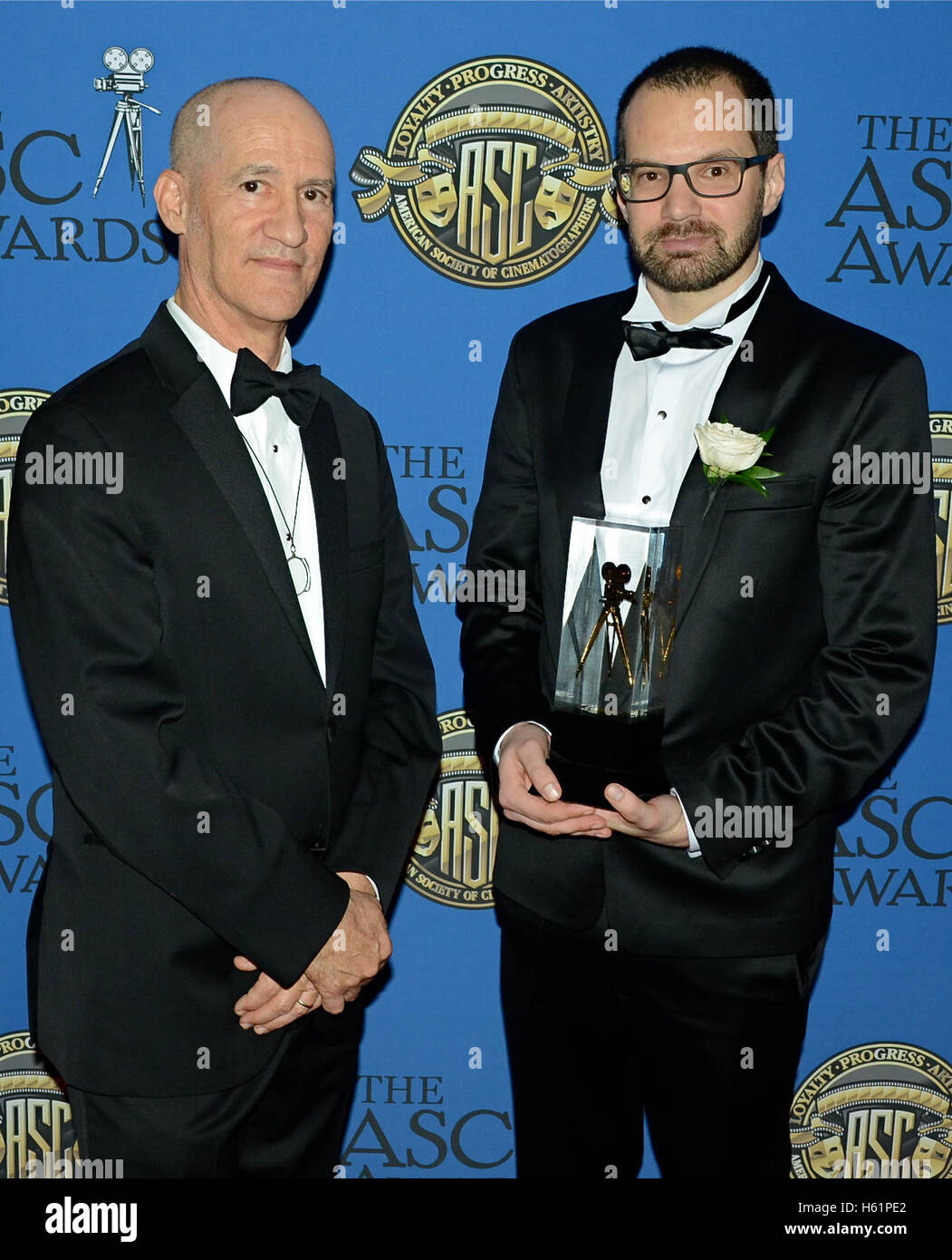 (L-R) Cinematographers Roberto Schaefer and Matyas Erdely attends the 30th Annual ASC Awards for Outstanding Achievement Stock Photo