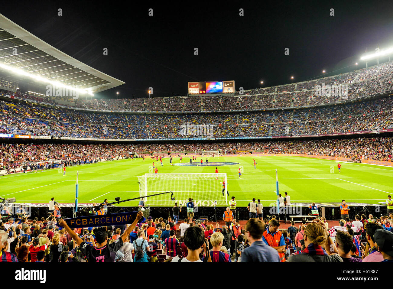 Barcelona, Nou Camp, football stadium, Spain - Stock Image