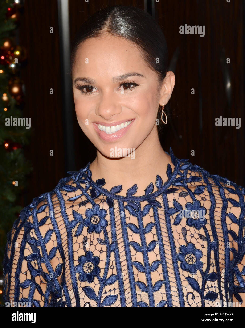 Misty Copeland arrives at the American Ballet Theatre 75th Anniversary Holiday Benefit at the Beverly Hilton Hotel - Stock Image