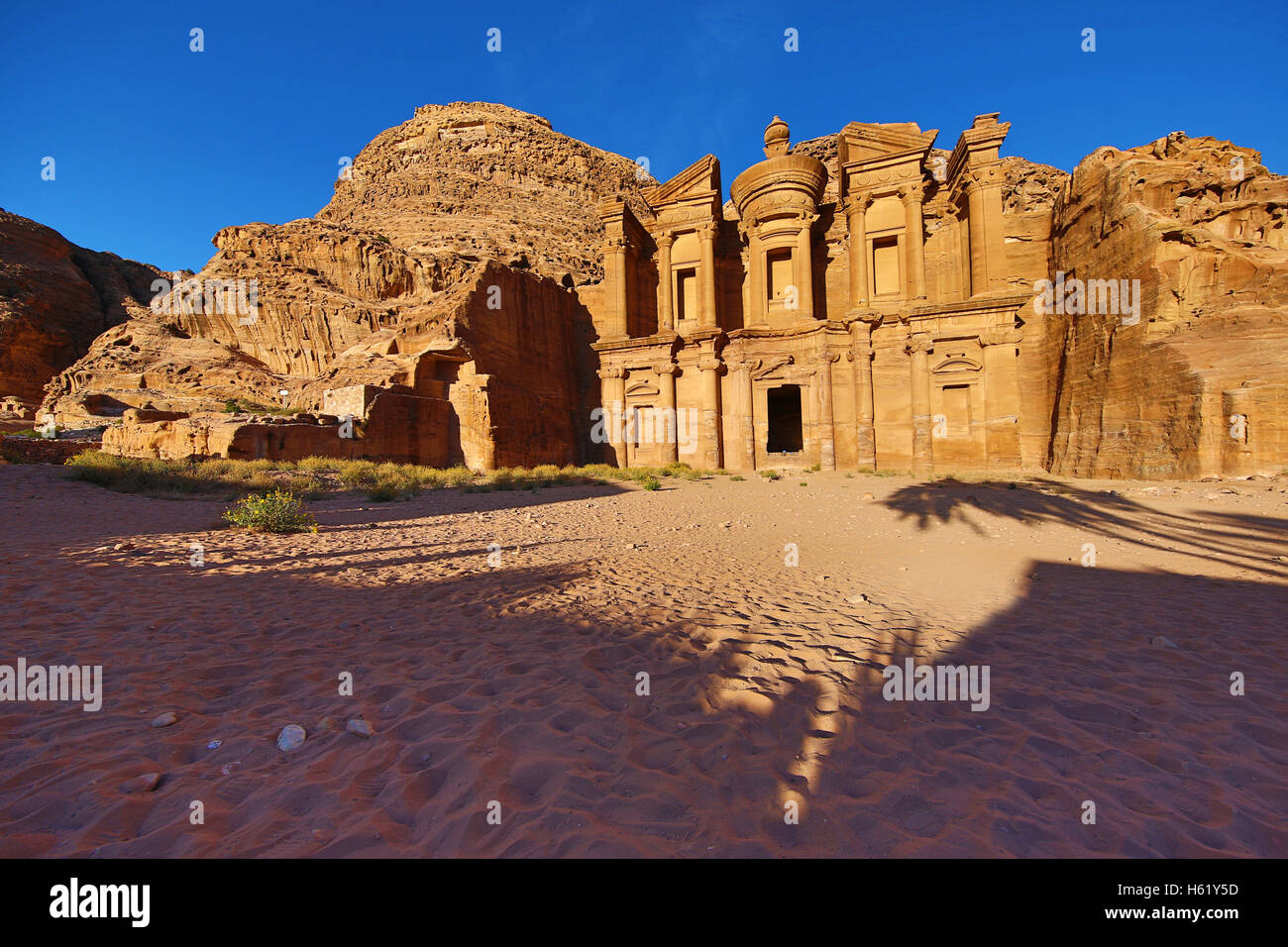 The Monastery, Ad-Deir, in the rock city of Petra, Jordan - Stock Image