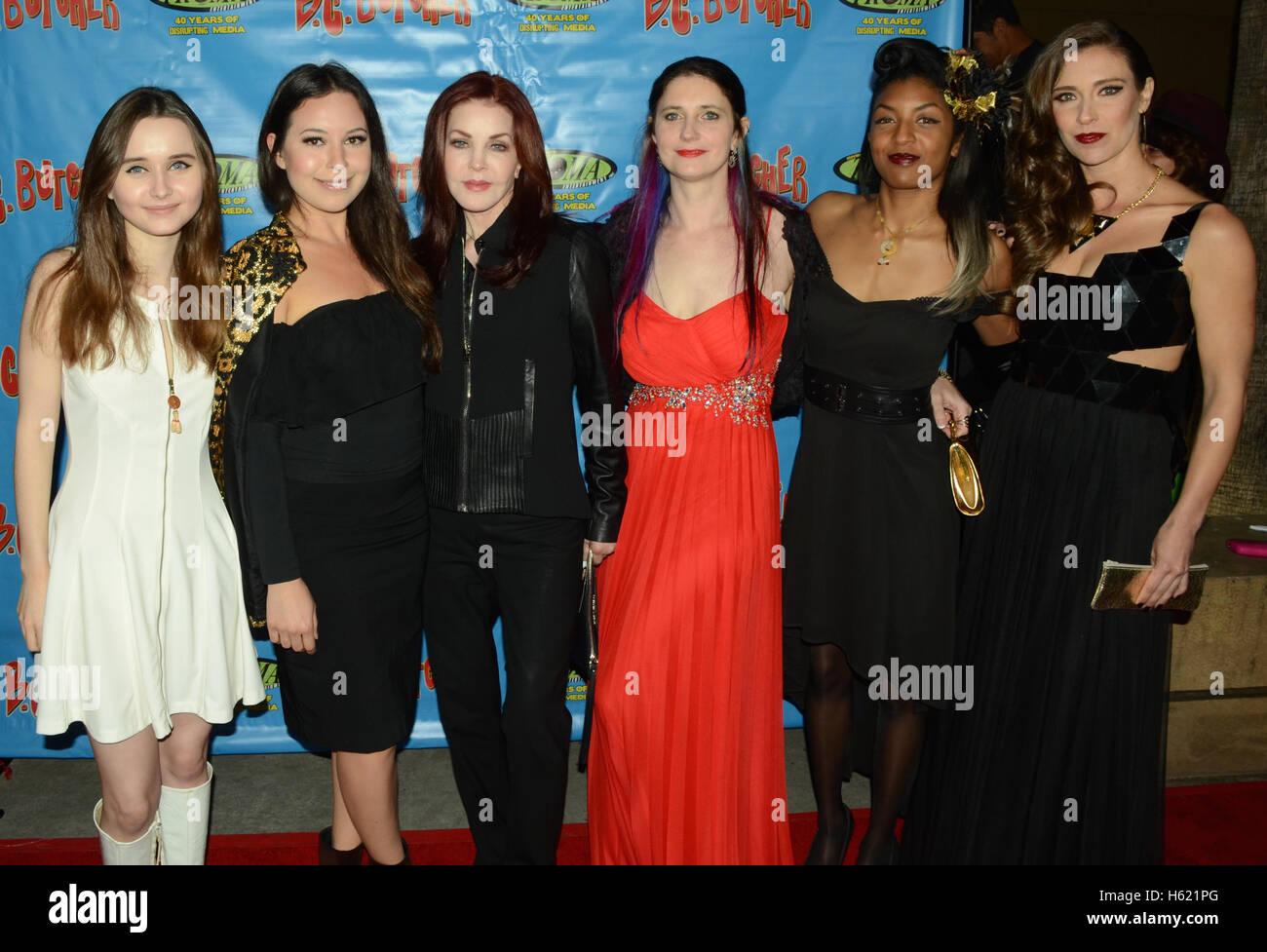 Kansas Bowling, Leilani Fideler, Priscilla Presley, Miranda Robin, Deryn Leah and Krista Fettke arrives at the 'BC - Stock Image